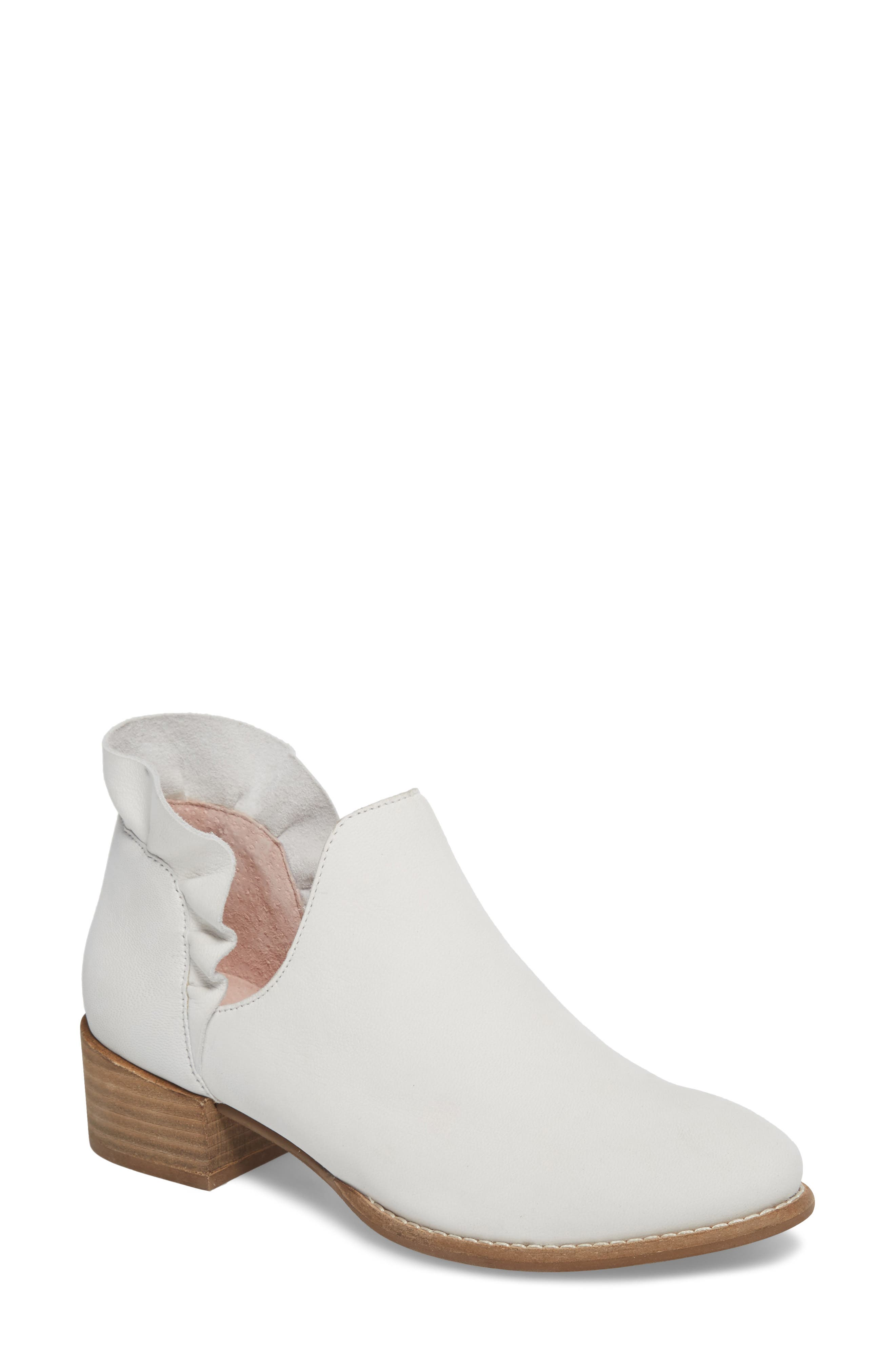 Renowned Bootie,                         Main,                         color, White Nubuck