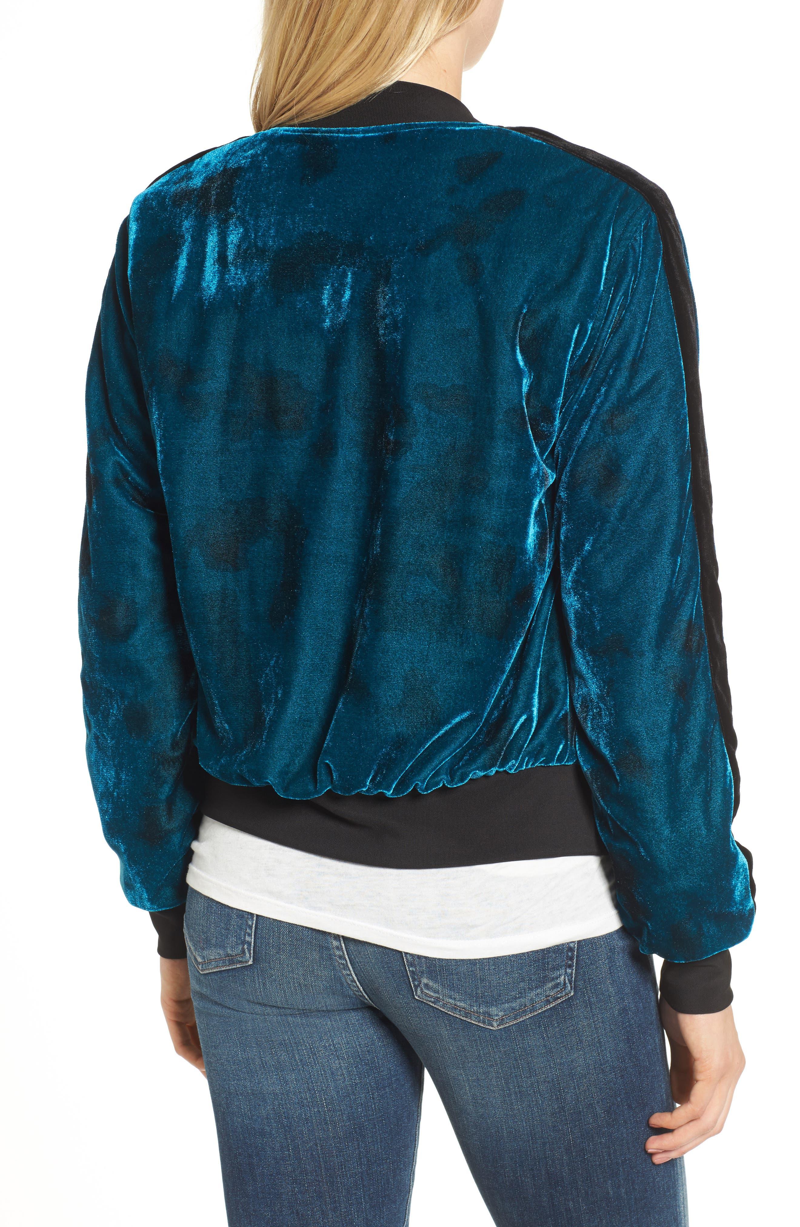 Reversible Baseball Jacket,                             Alternate thumbnail 2, color,                             Sapphire