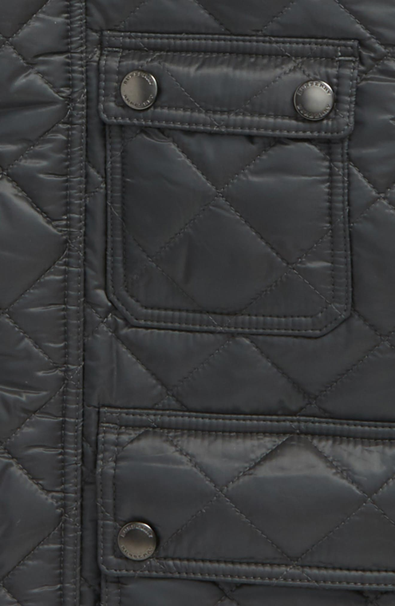 Halesworth Quilted Field Jacket,                             Alternate thumbnail 2, color,                             Dark Grey