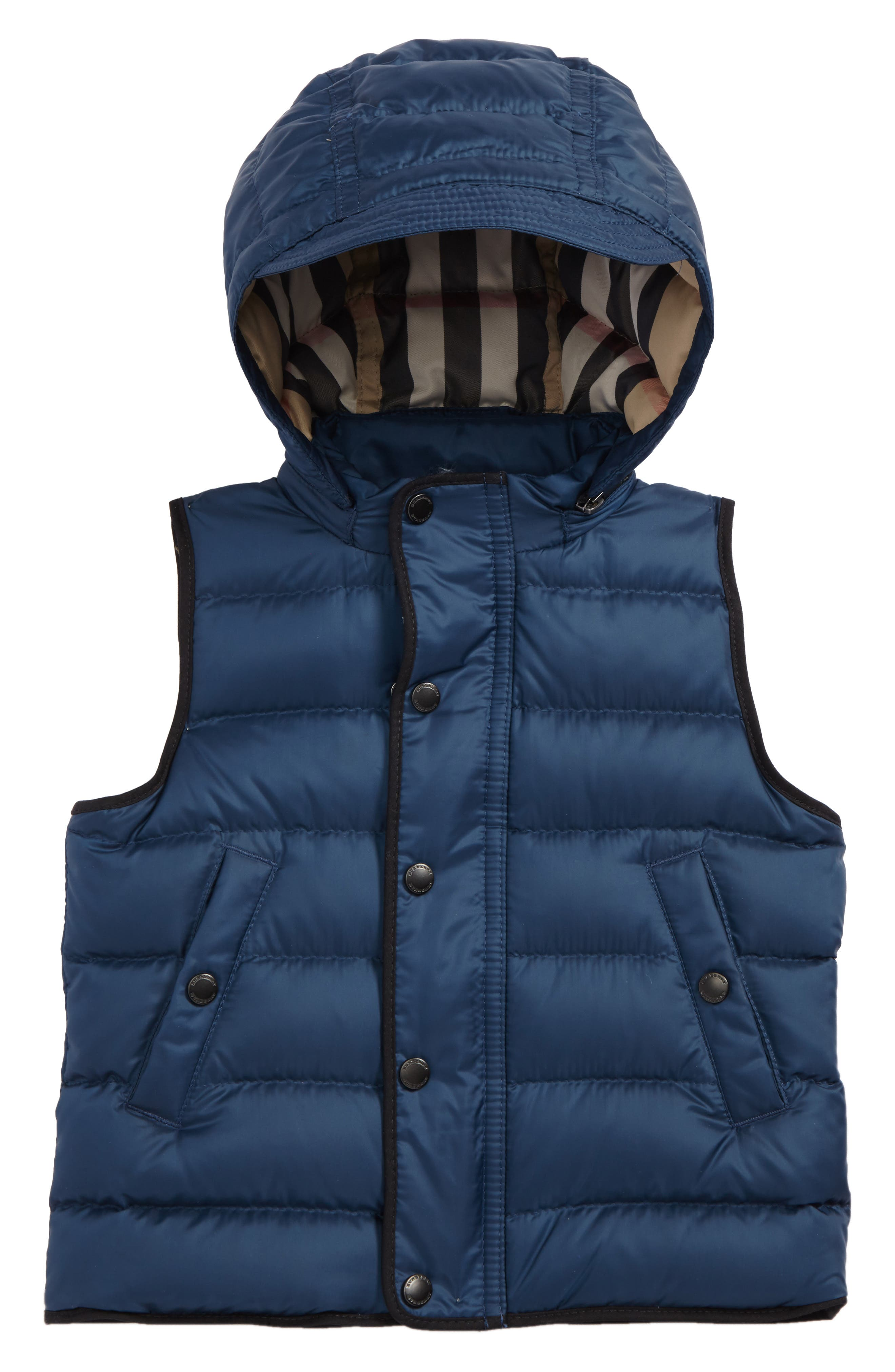 Alternate Image 1 Selected - Burberry Mini Carlton Quilted Down Vest (Baby Boys)