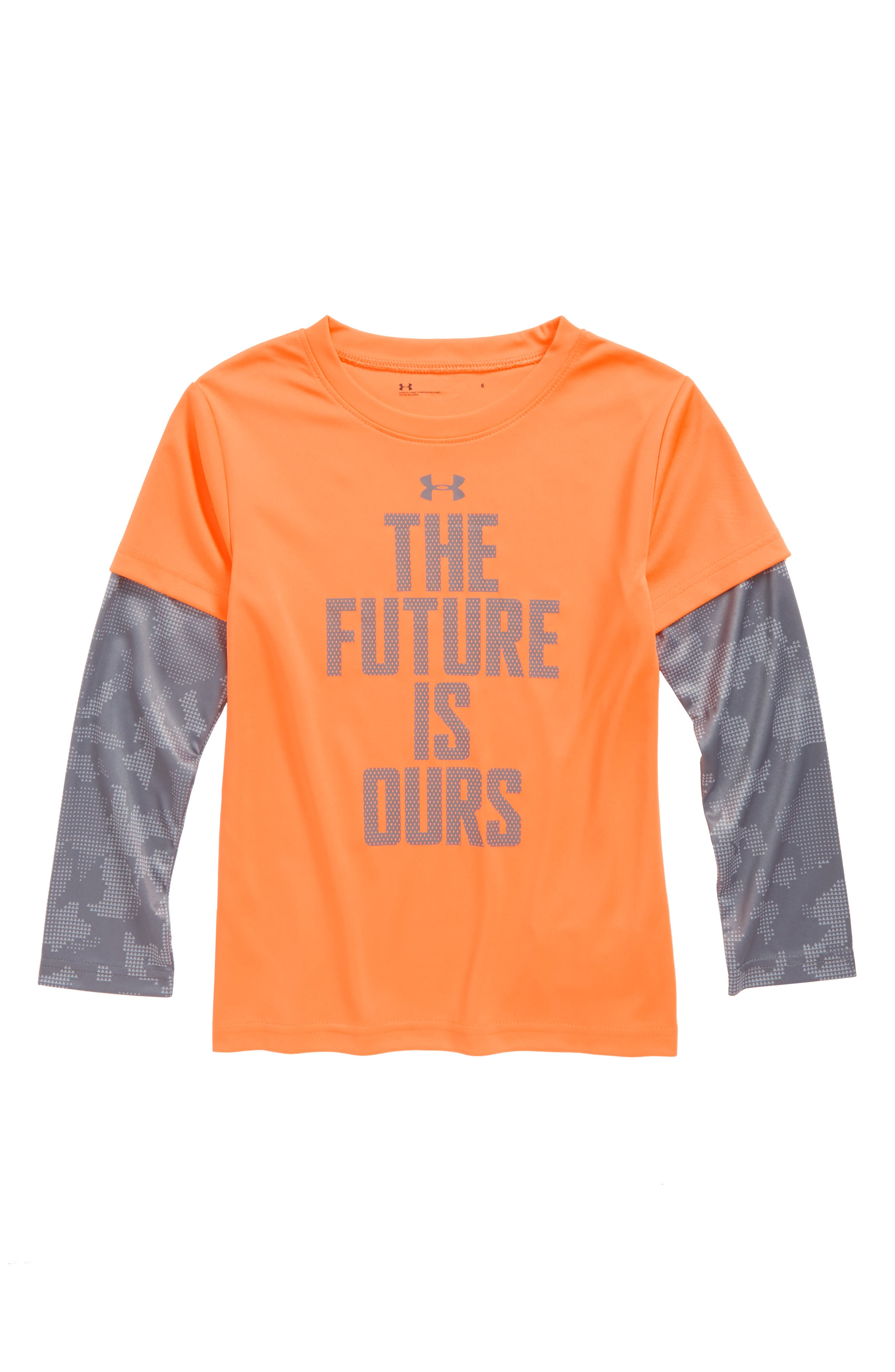 The Future Is Ours Graphic T-Shirt,                             Main thumbnail 1, color,                             Magma Orange