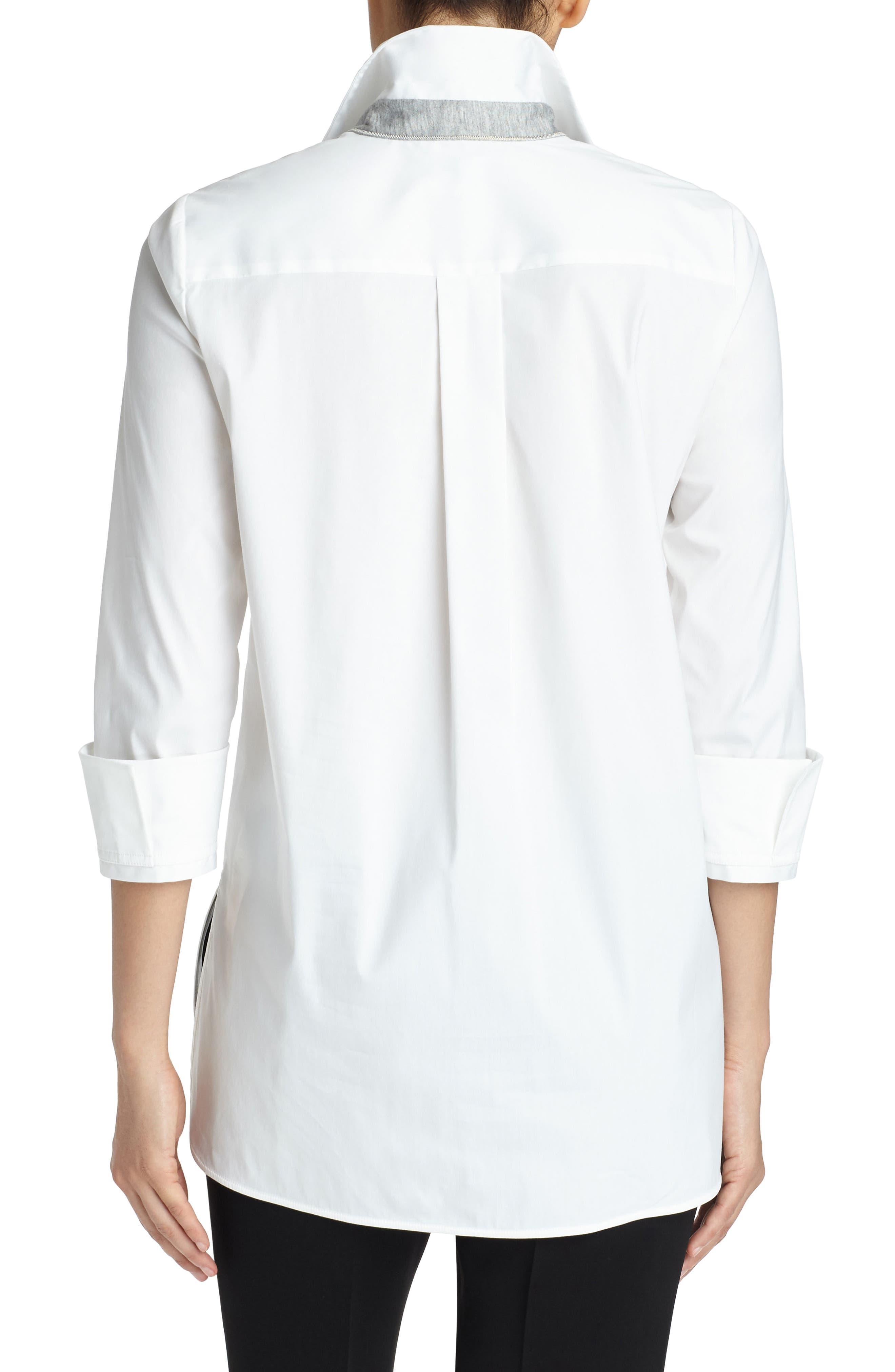 Augusta Stretch Cotton Shirt,                             Alternate thumbnail 2, color,                             White