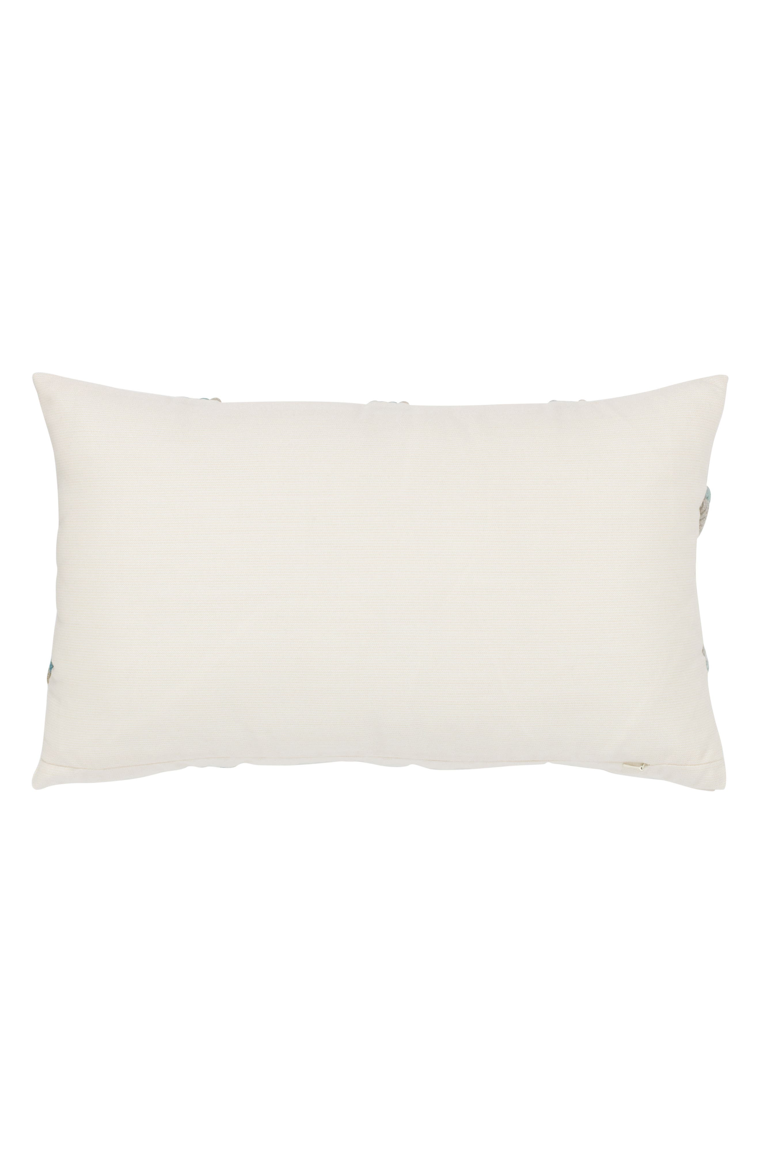 Aqua Rope Indoor/Outdoor Accent Pillow,                             Alternate thumbnail 2, color,                             Off White Blue