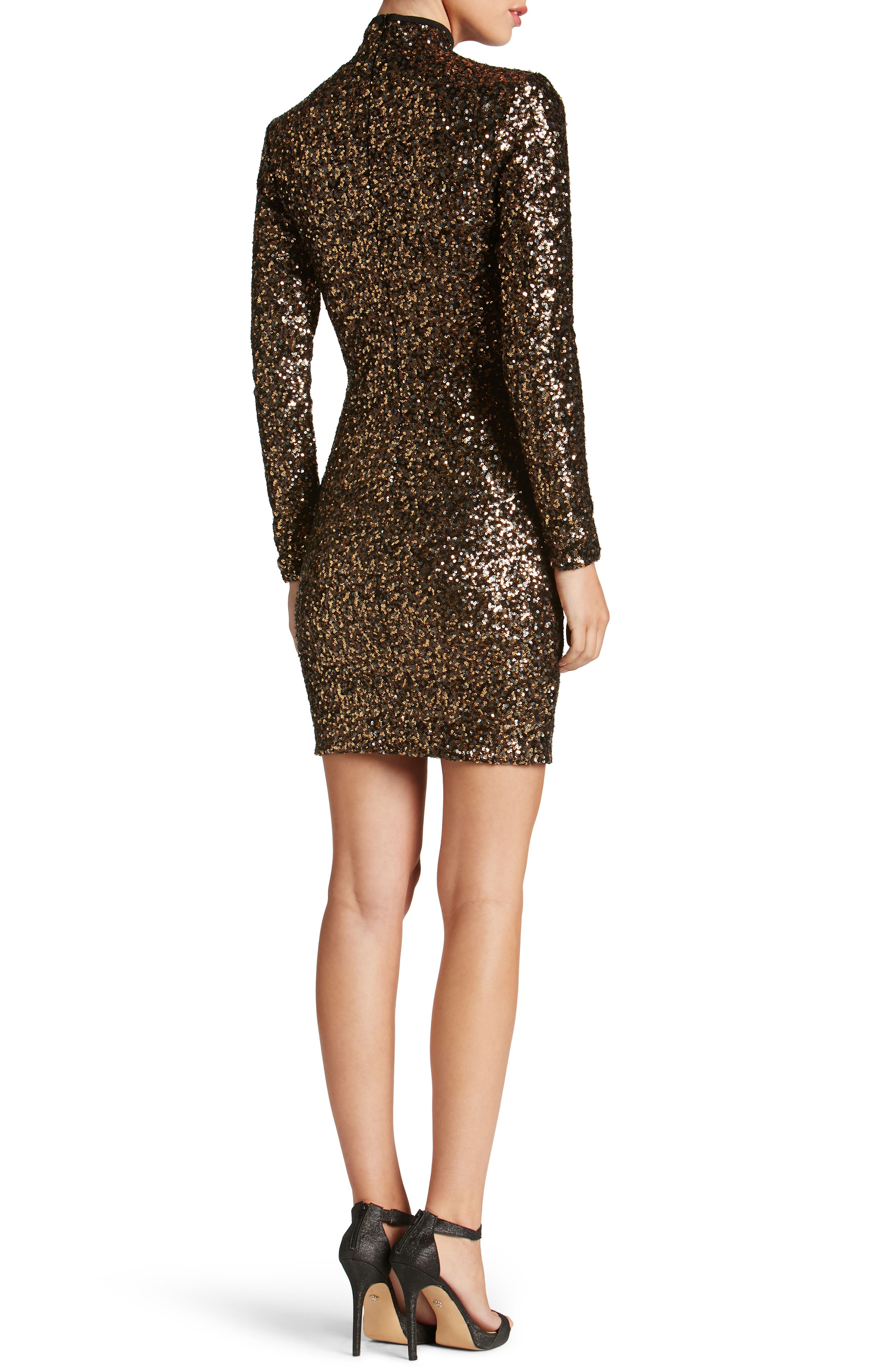 Alternate Image 2  - Dress the Population Janis Sequin Body-Con Dress