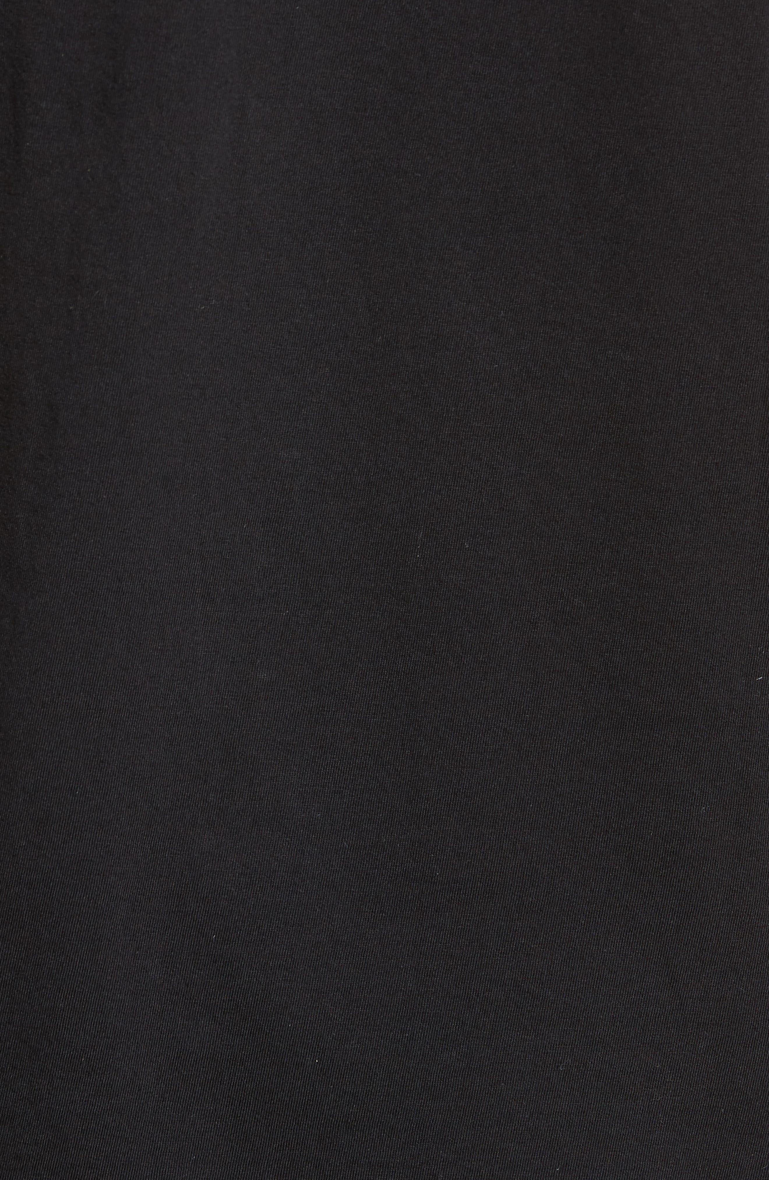 Outline Graphic T-Shirt,                             Alternate thumbnail 5, color,                             Black