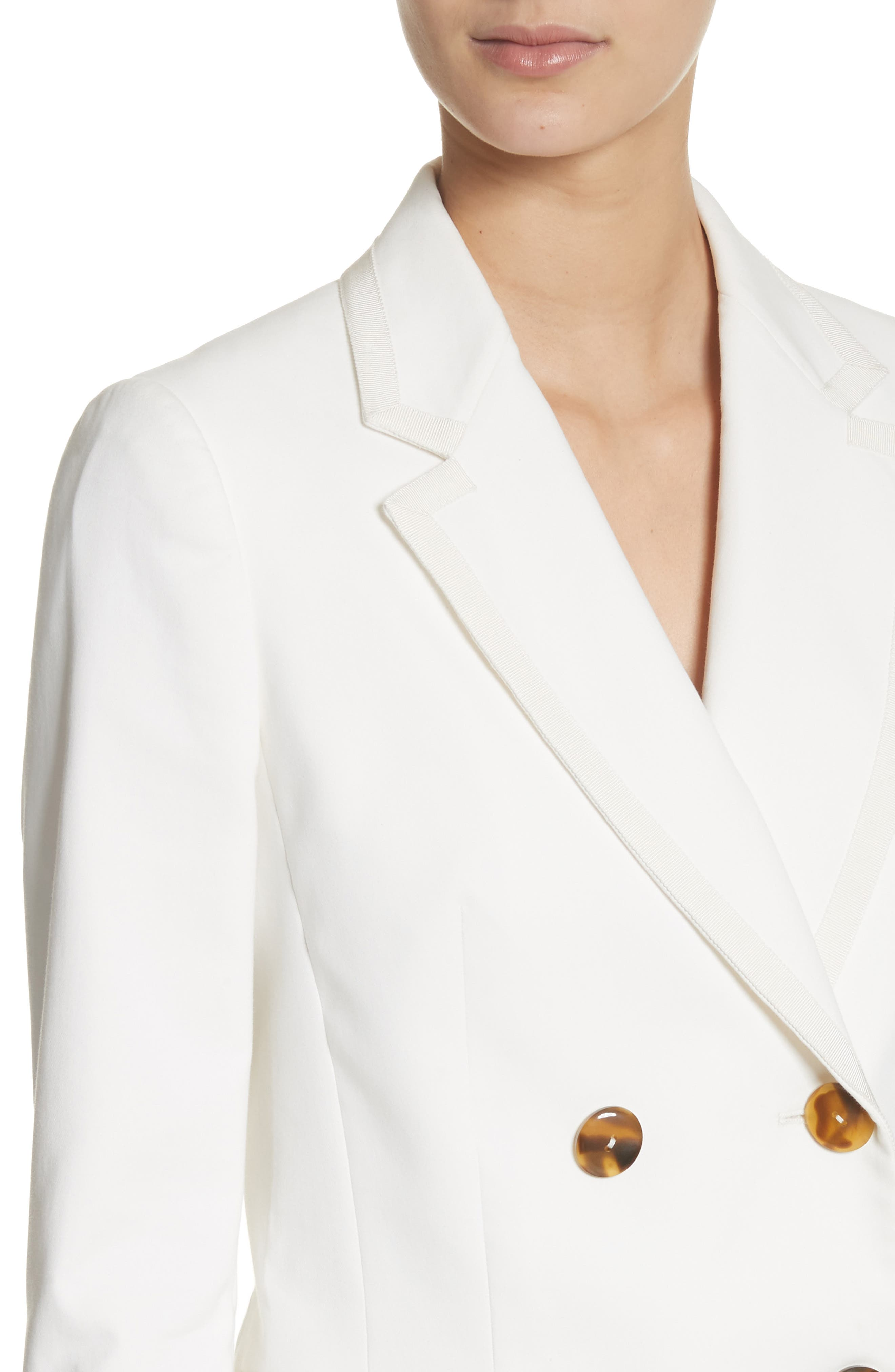 Double Breasted Blazer,                             Alternate thumbnail 4, color,                             White