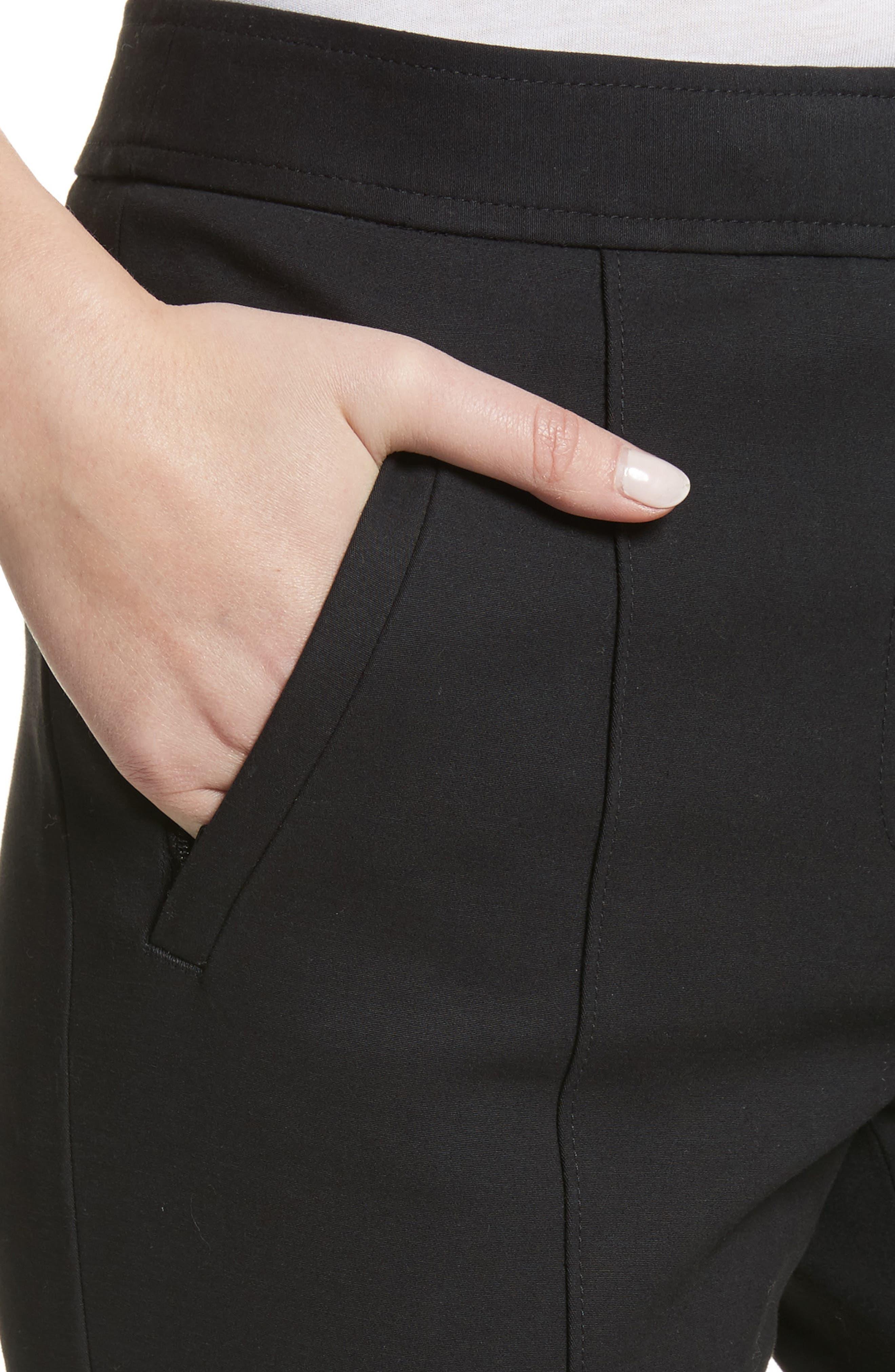 Vanner Slim Leg Ankle Pants,                             Alternate thumbnail 4, color,                             Black