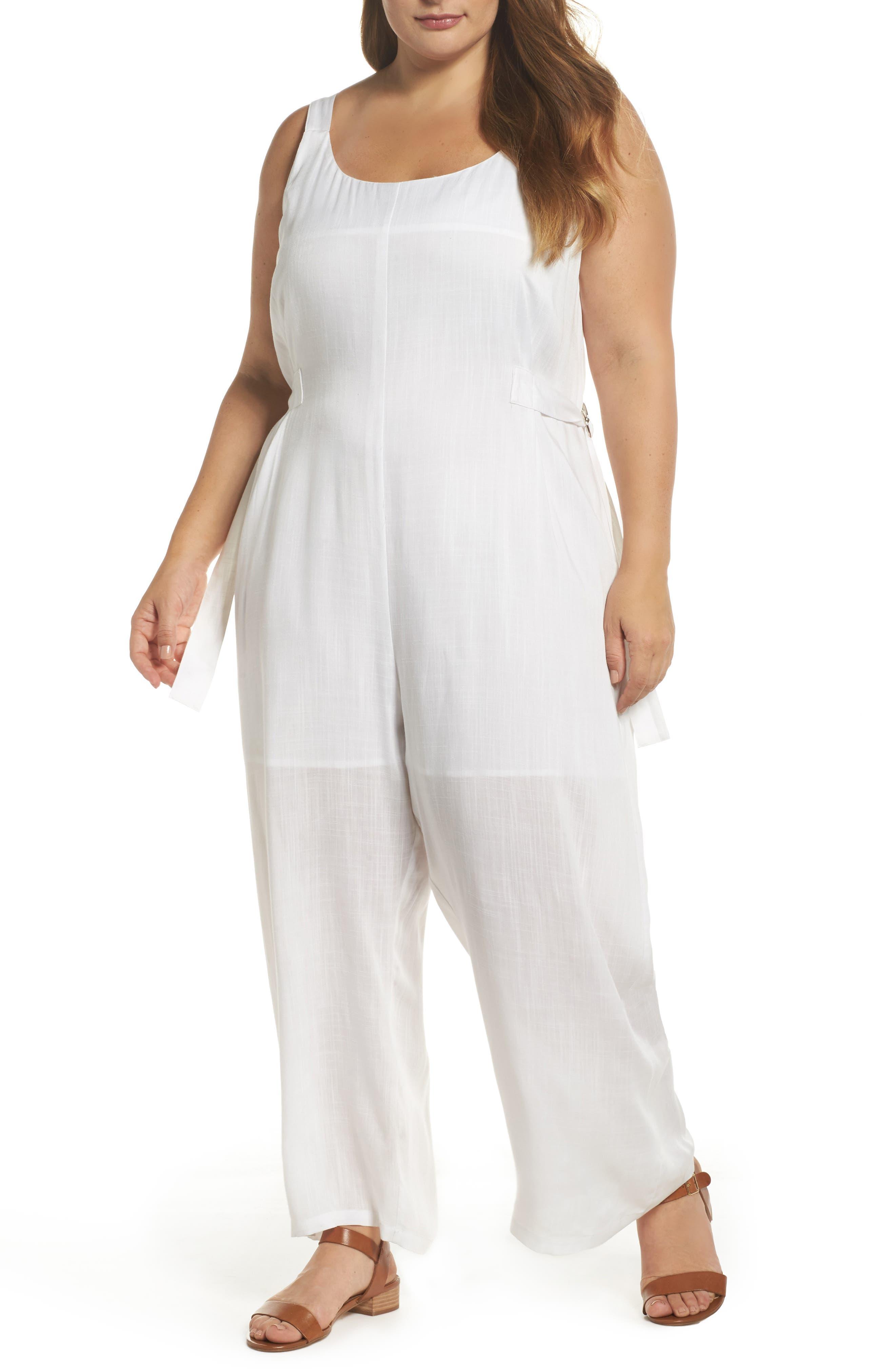 Culotte Jumpsuit,                         Main,                         color, White