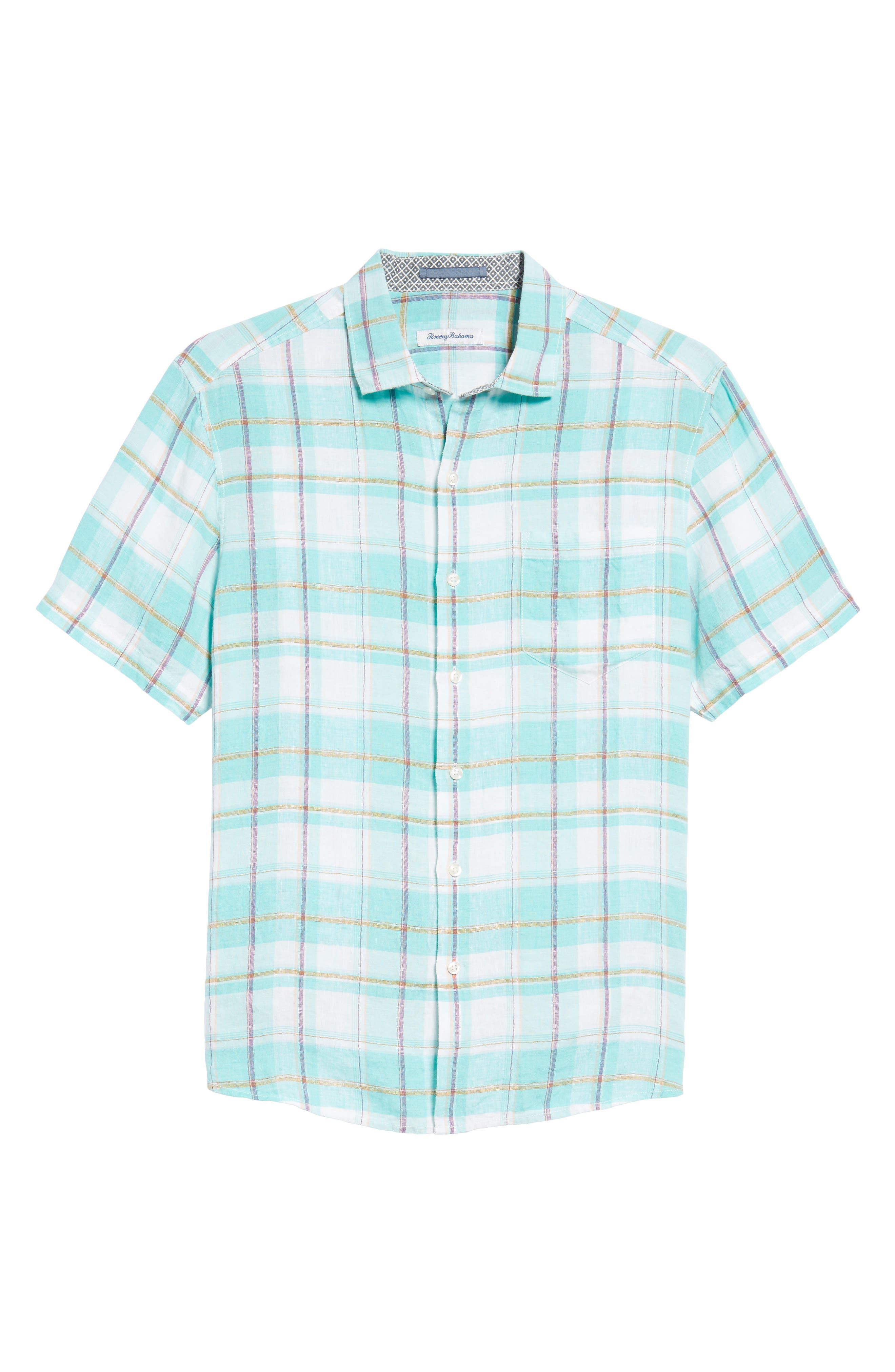 Lauderdale Regular Fit Sport Shirt,                             Alternate thumbnail 6, color,                             Dusty Aqua