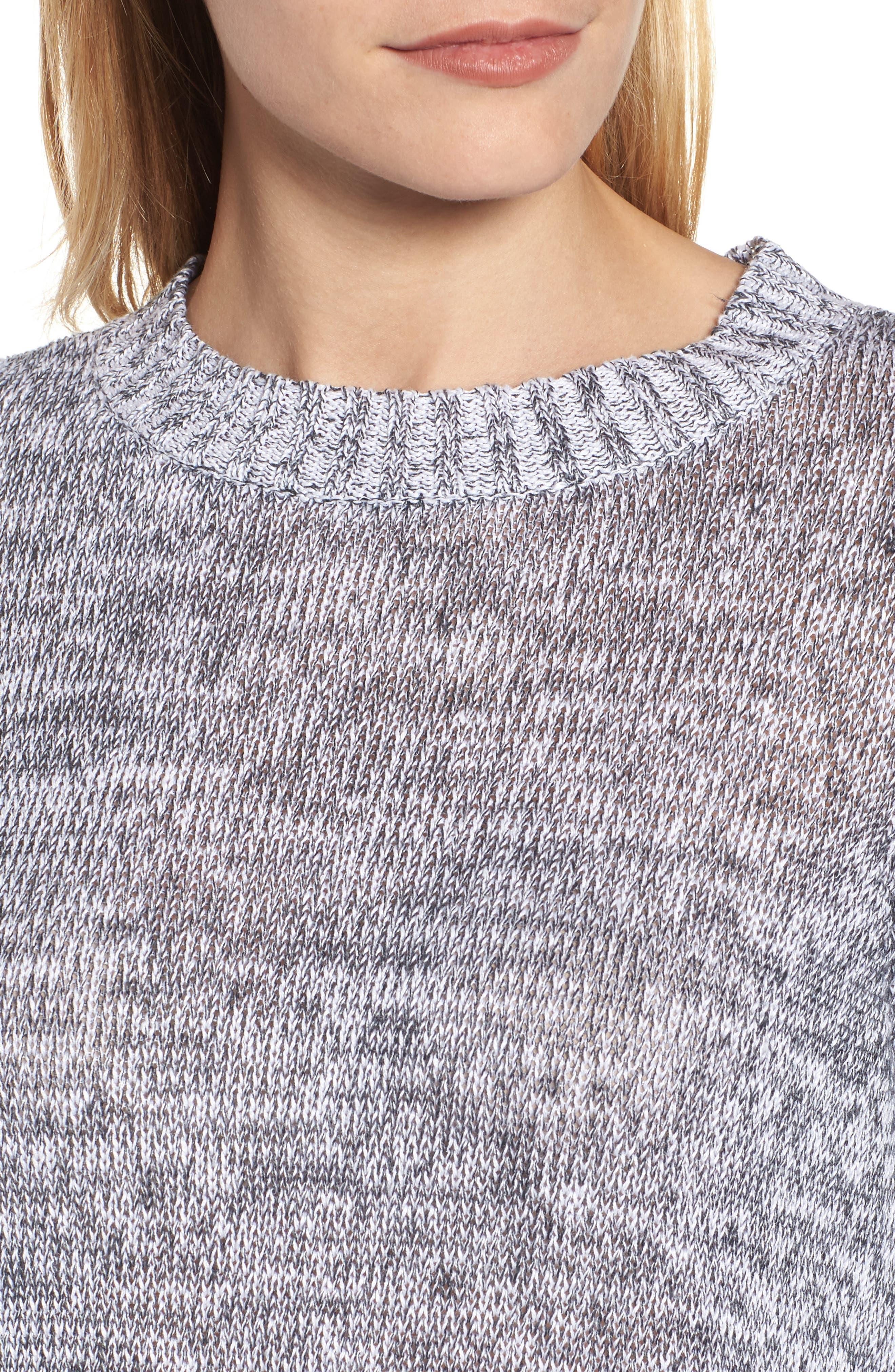 Alternate Image 4  - Eileen Fisher Organic Linen Crewneck Sweater