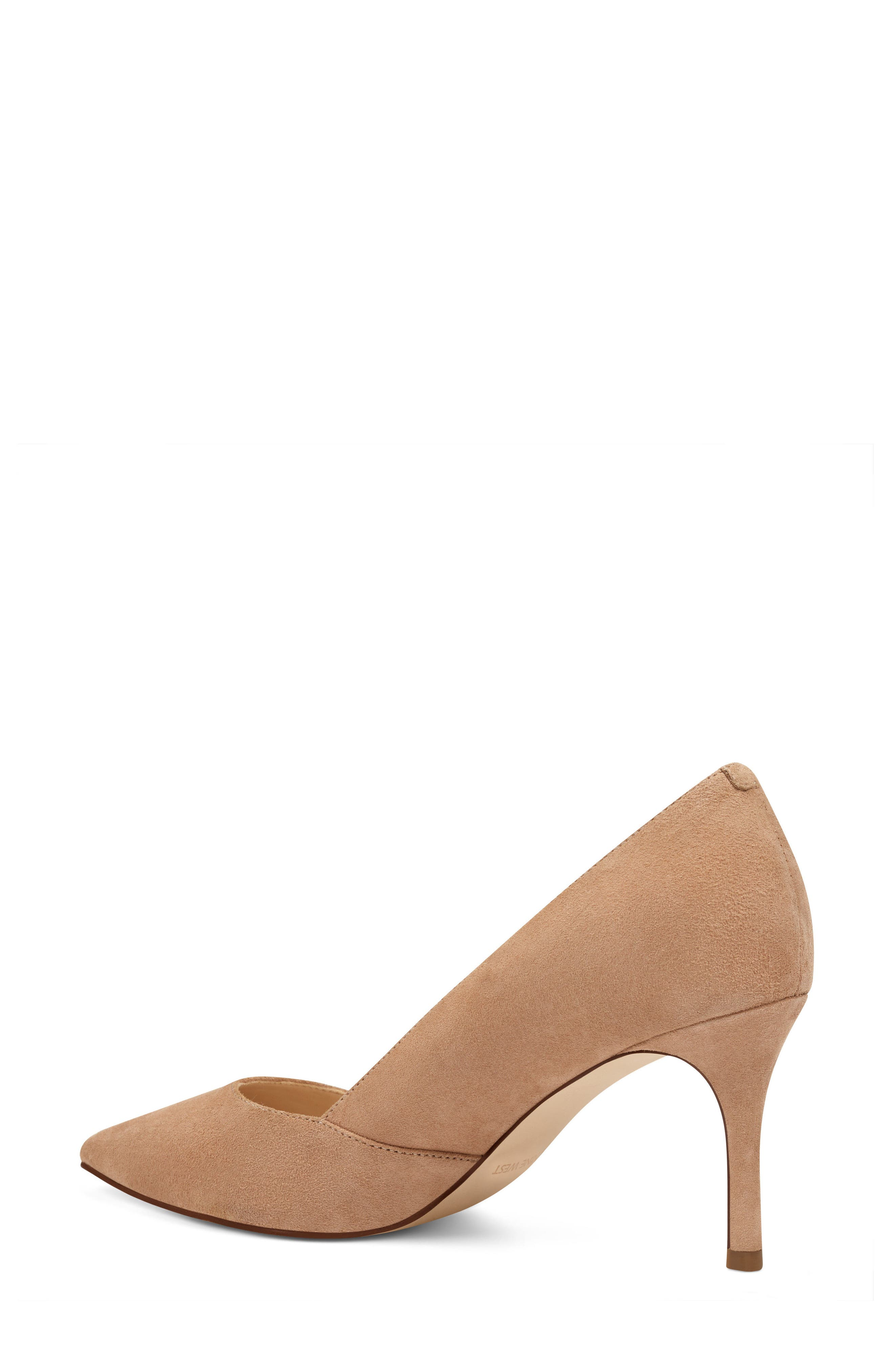 Mine Pointy Toe Pump,                             Alternate thumbnail 2, color,                             Light Natural Suede