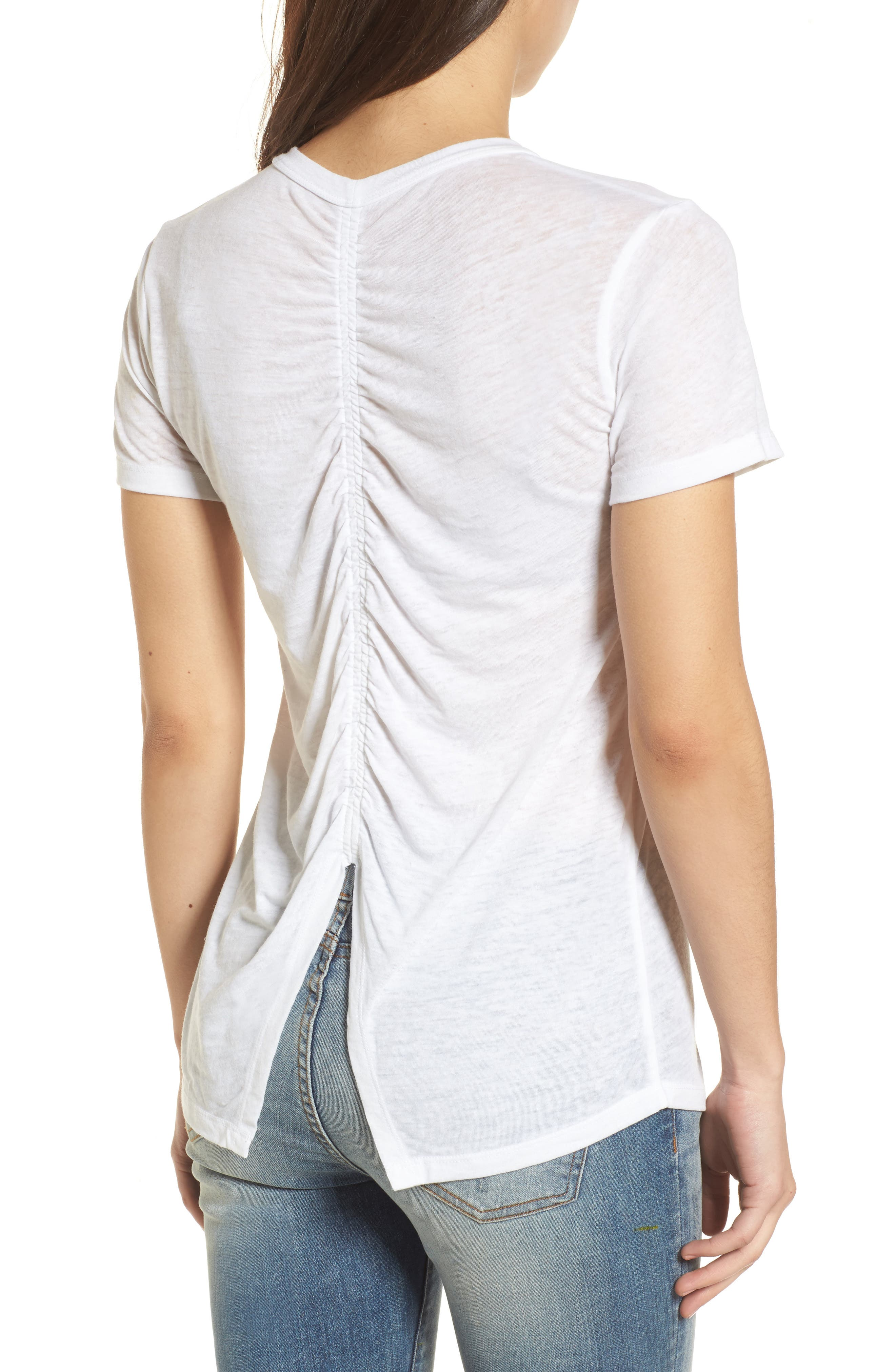 Alternate Image 2  - Lucky Brand Heart Matchbox Ruched Back Top
