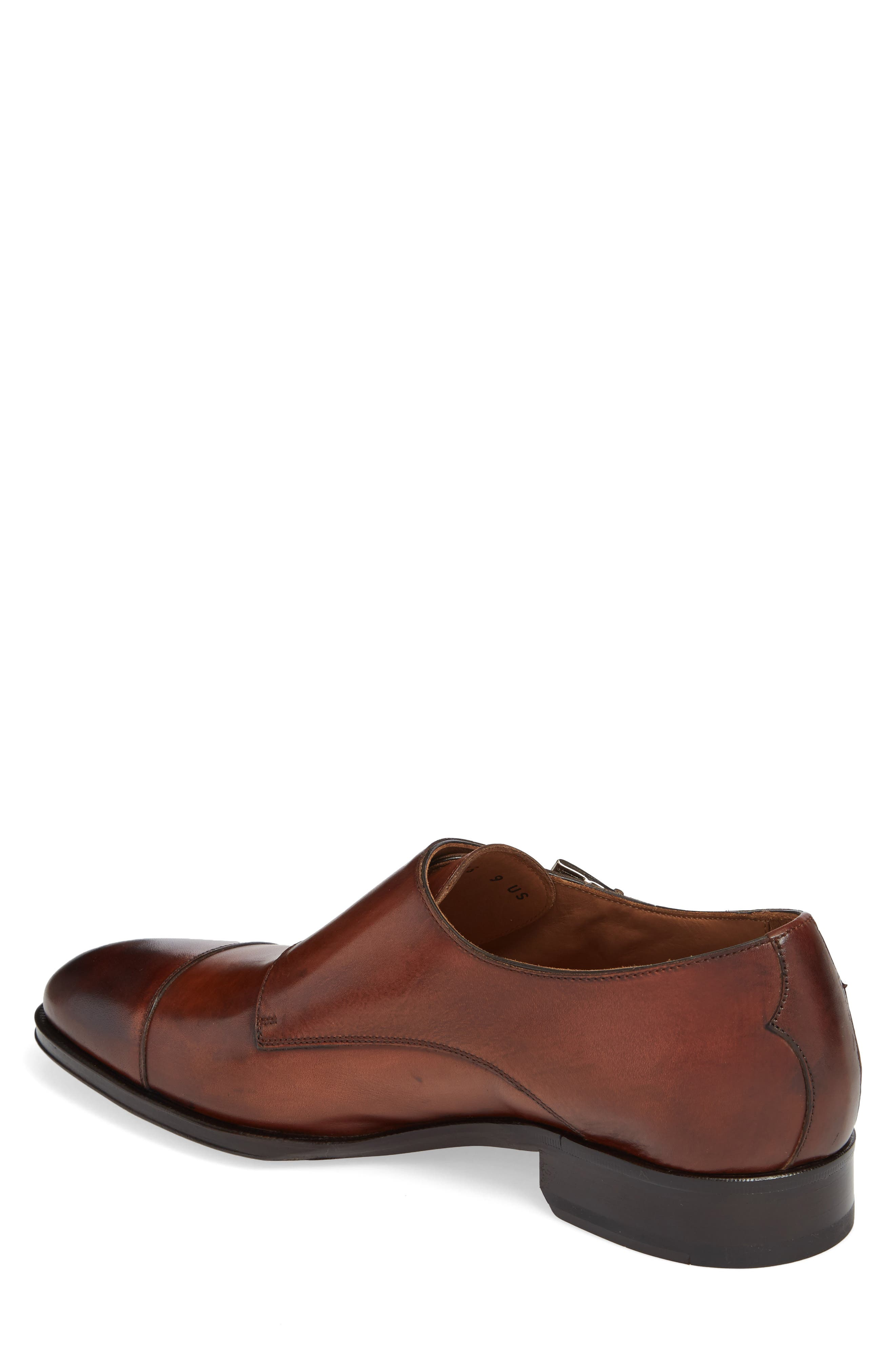 Gallo Bianco Double Monk Strap Shoe,                             Alternate thumbnail 2, color,                             Marble Brown