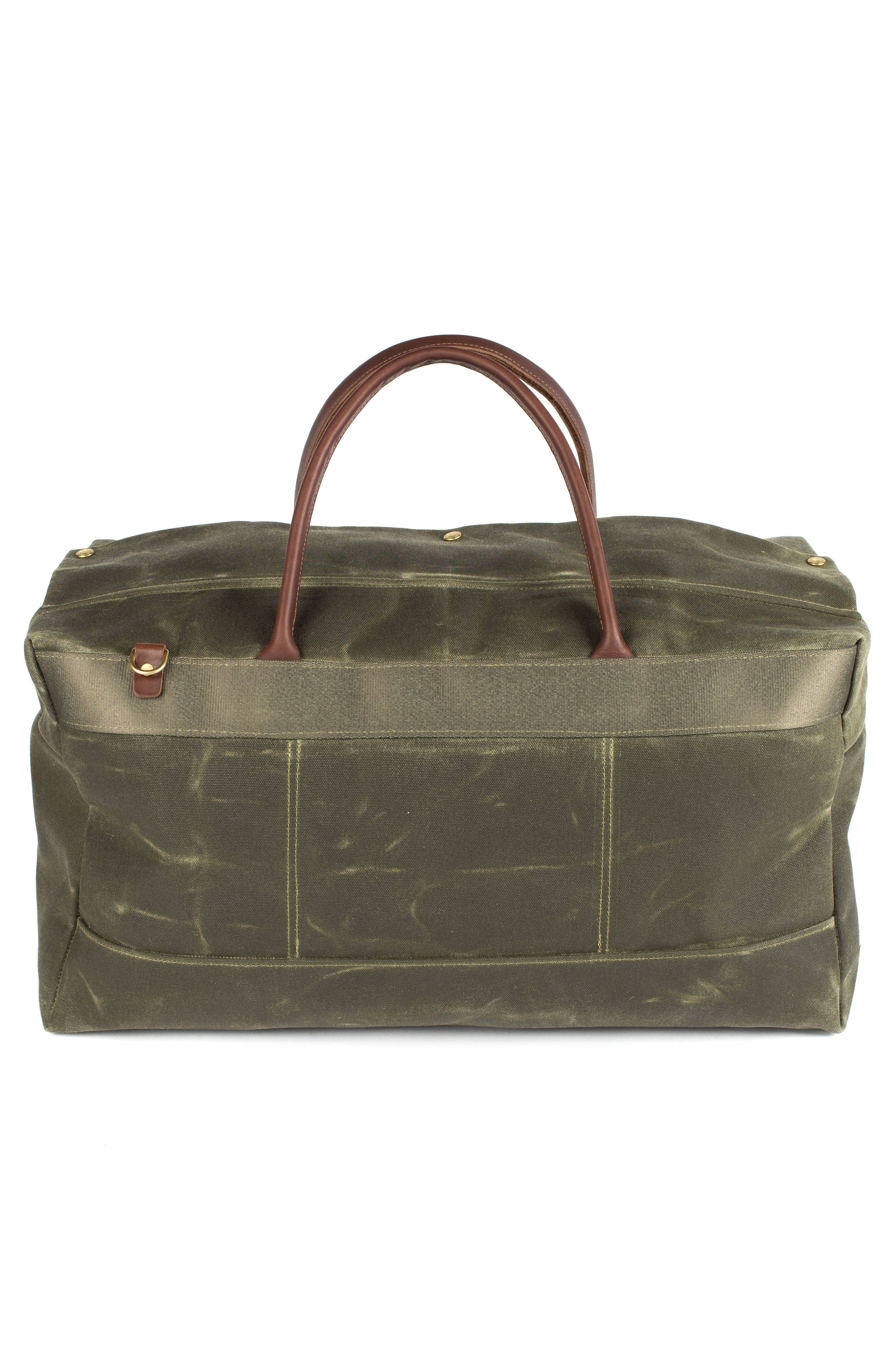 Grand Tourer Waxed Canvas Duffel Bag,                             Alternate thumbnail 2, color,                             Balmoral Moss