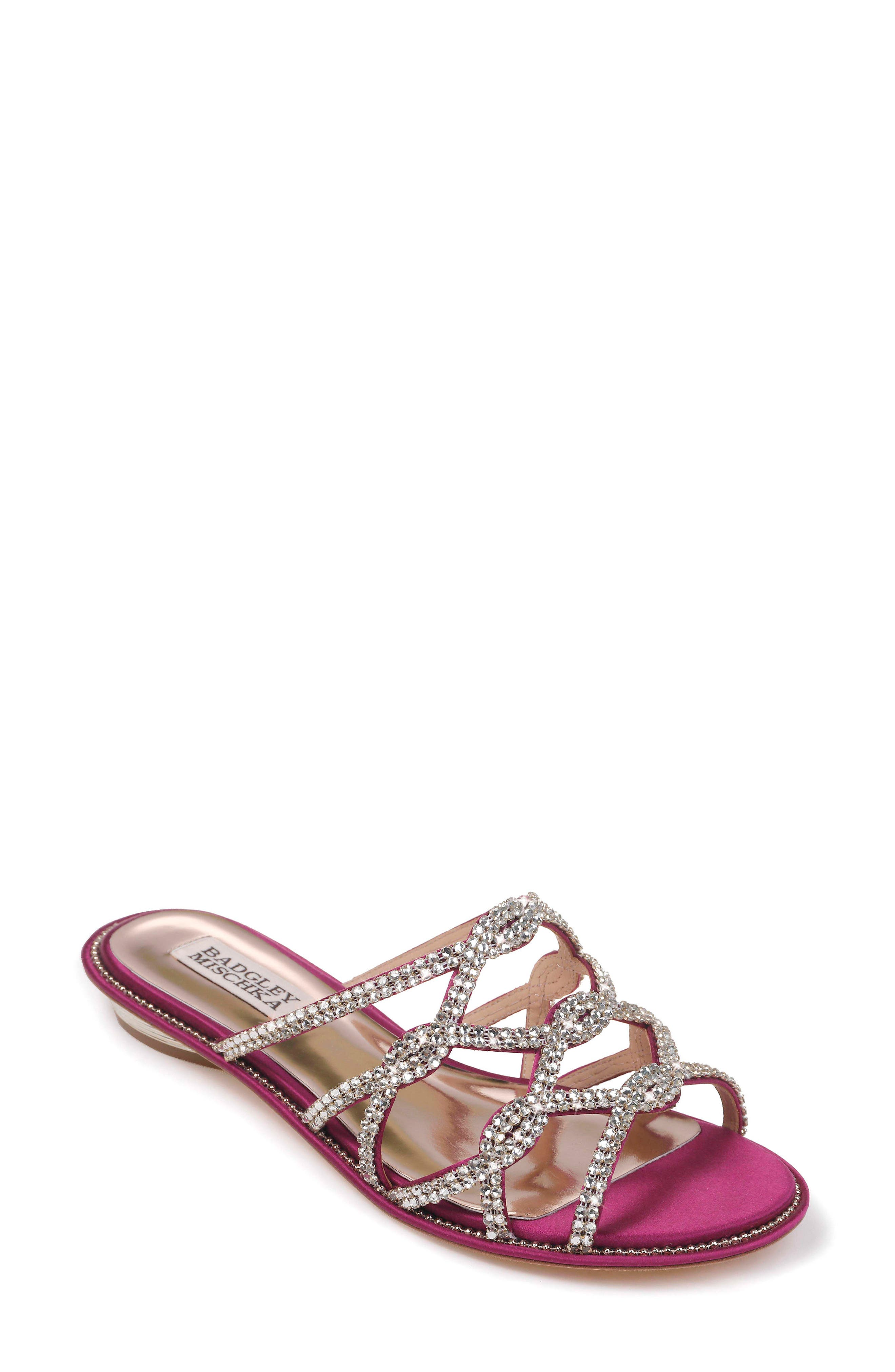 Sofie Strappy Sandal,                         Main,                         color, Mulberry Satin