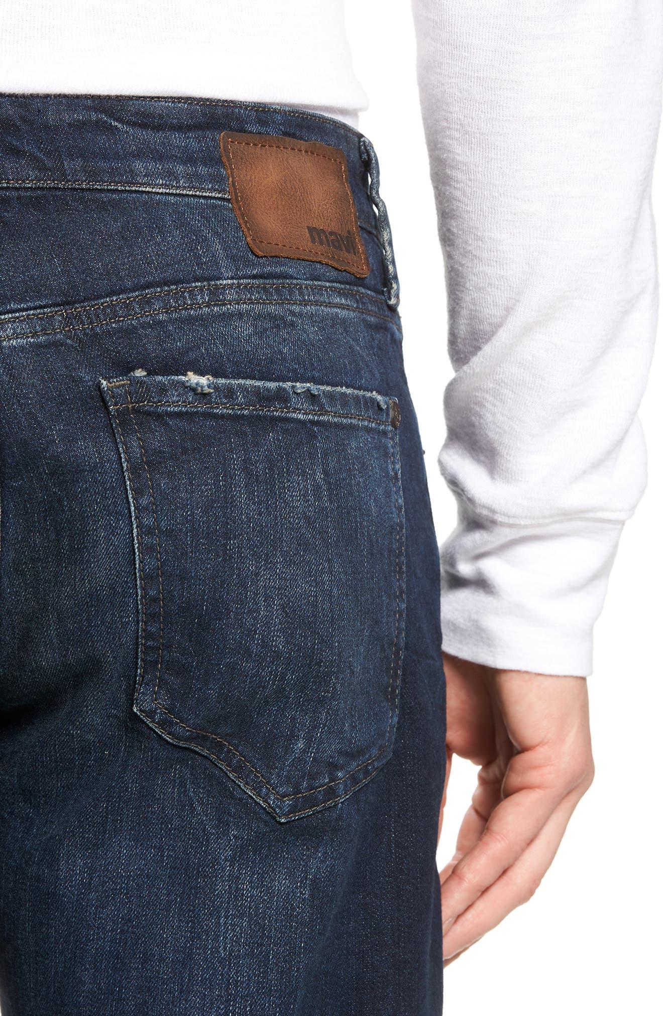 Myles Straight Leg Jeans,                             Alternate thumbnail 4, color,                             Deep Brooklyn