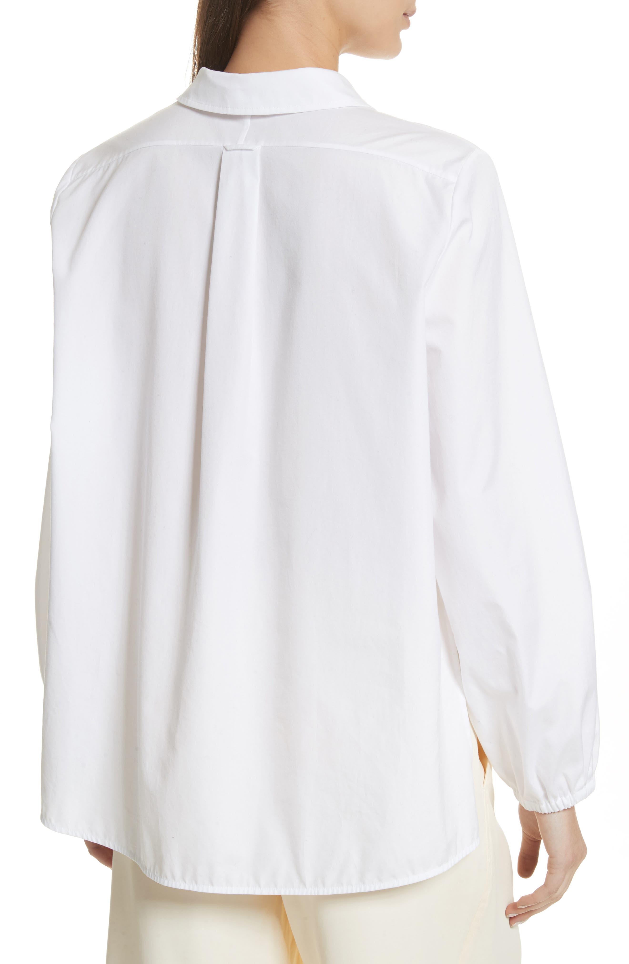 Swing Front Pullover Shirt,                             Alternate thumbnail 2, color,                             Optic White