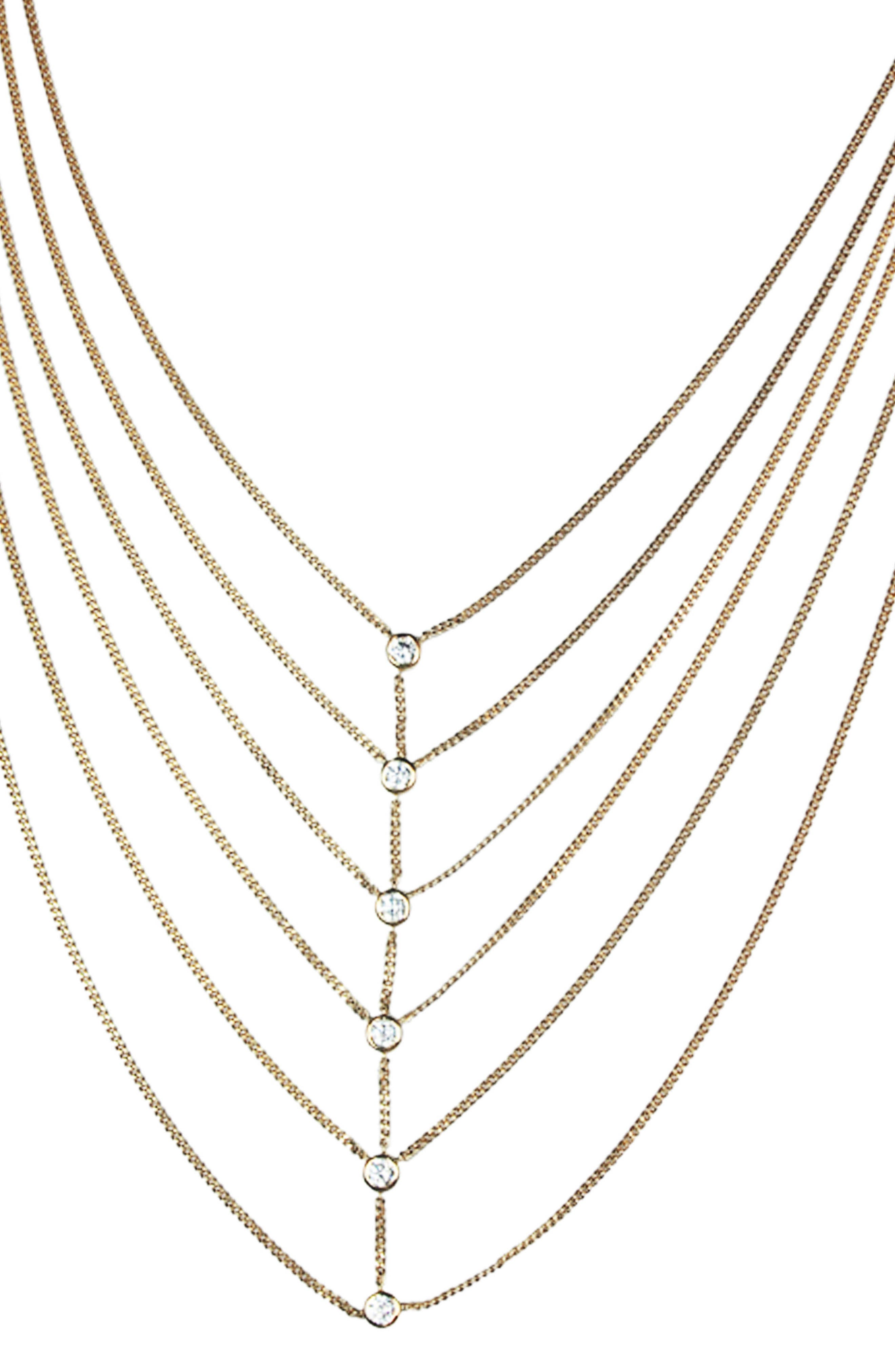 Layered Necklace,                         Main,                         color, Gold