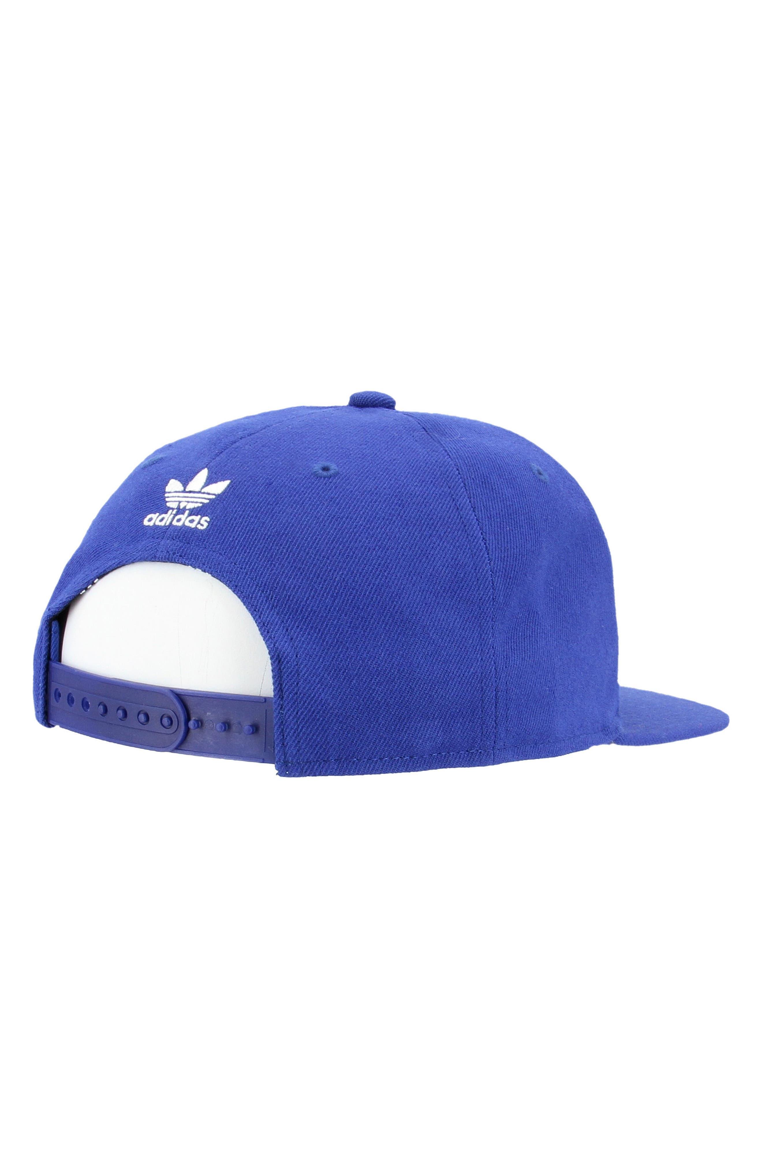 Trefoil Snapback Baseball Cap,                             Alternate thumbnail 2, color,                             Med Blue