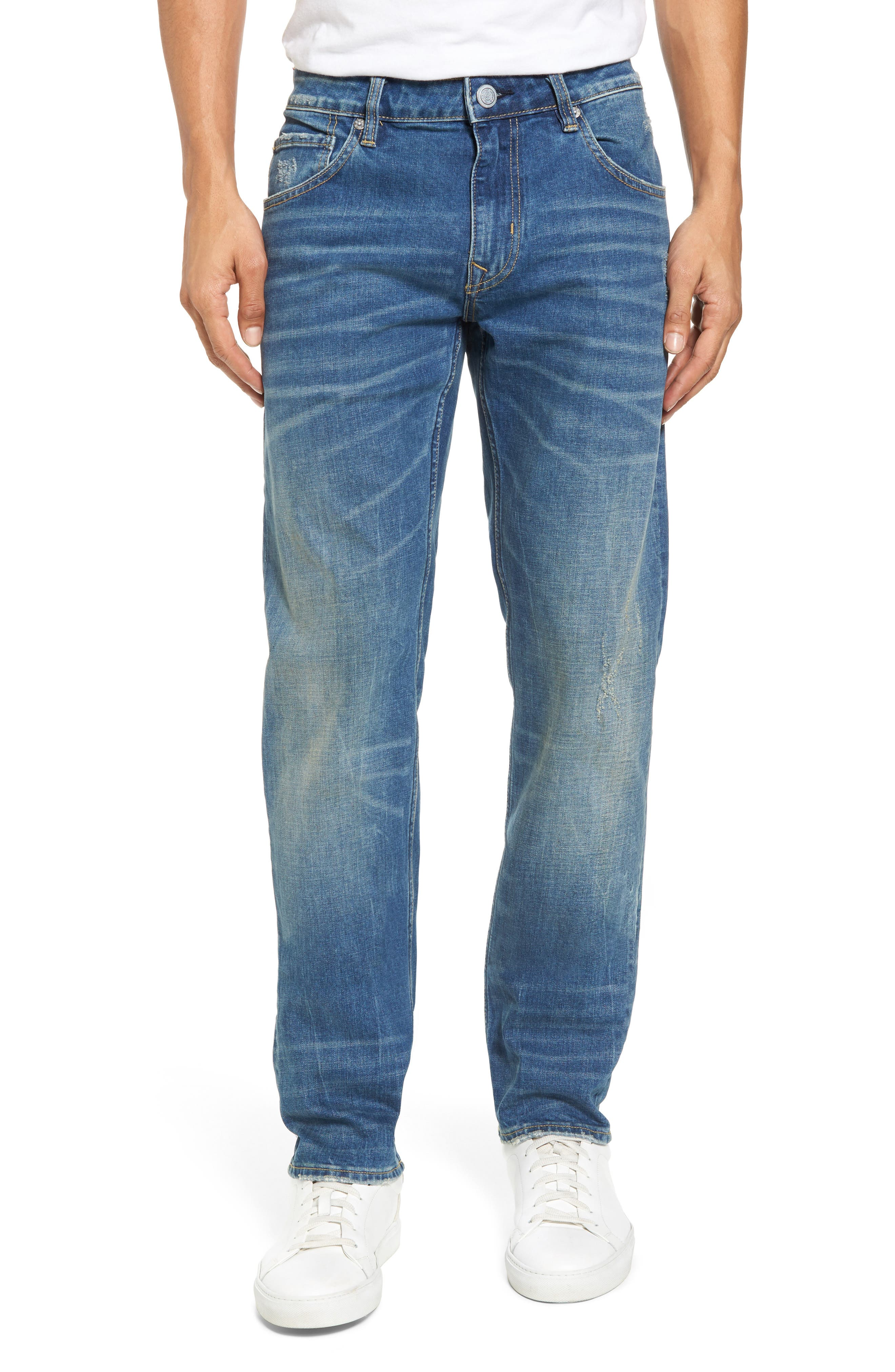 Slim Straight Leg Jeans,                         Main,                         color, Tint Light