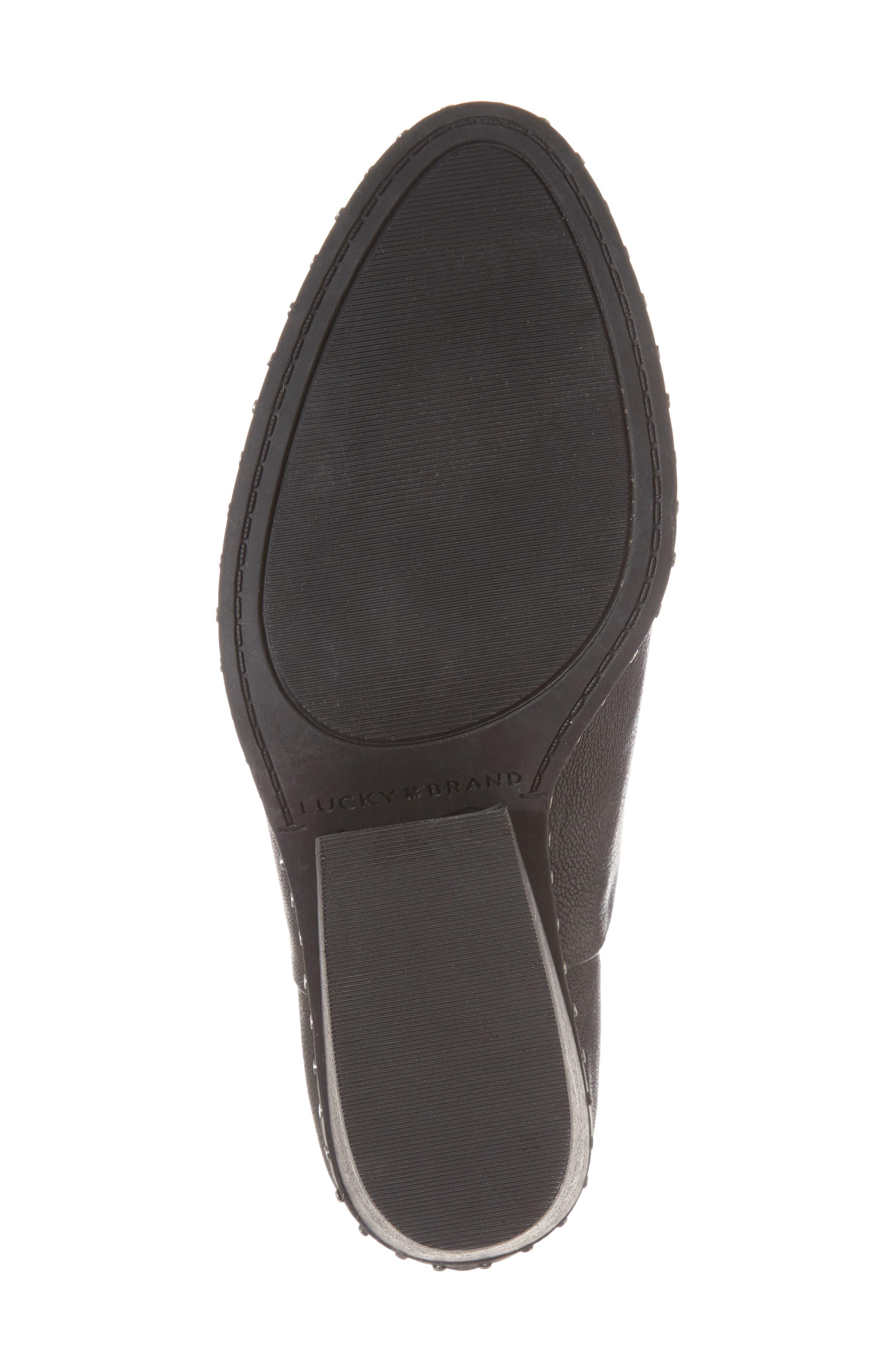 Lezzlee II Bootie,                             Alternate thumbnail 6, color,                             Black Leather