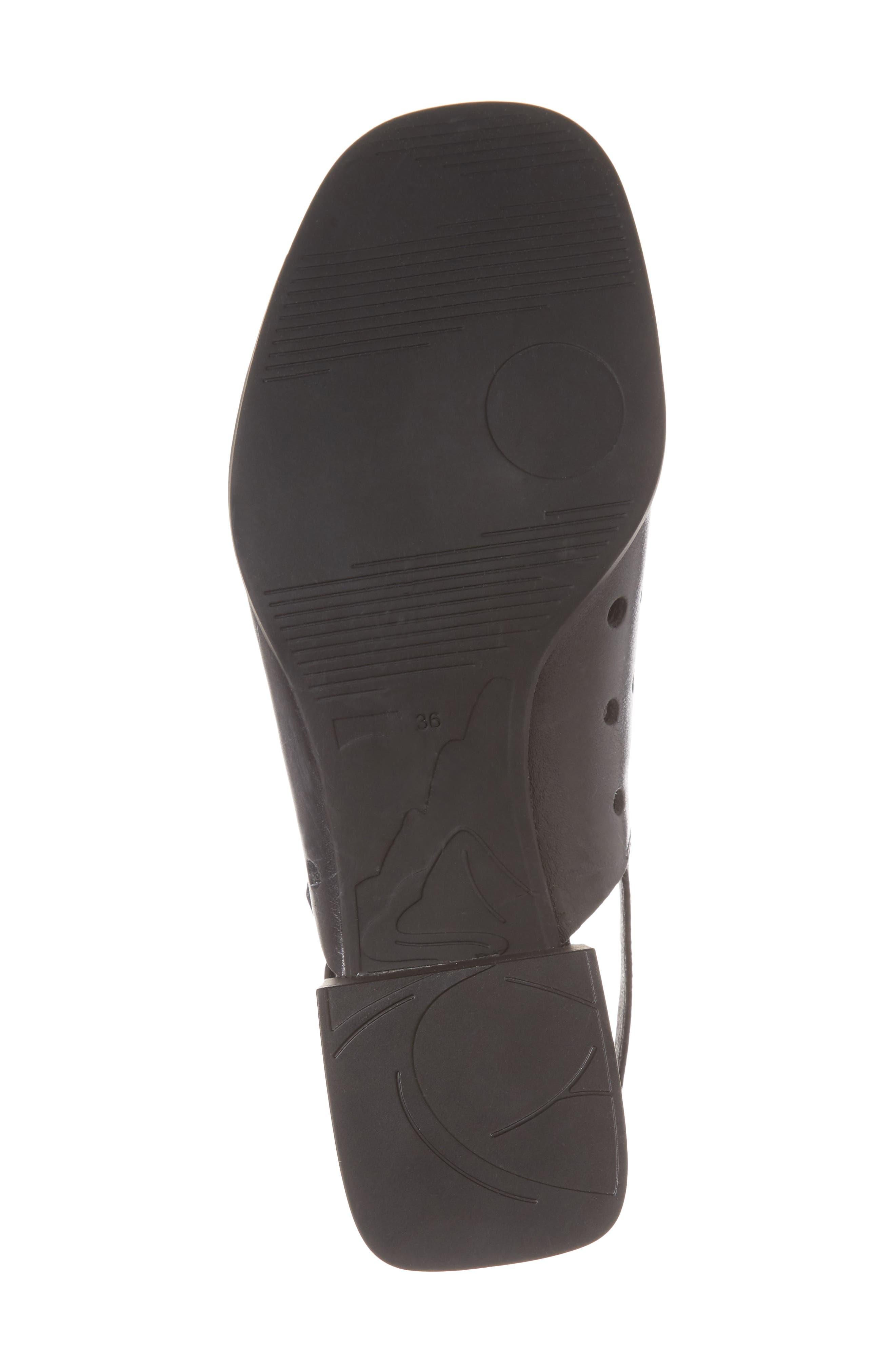 Twins Sandal,                             Alternate thumbnail 6, color,                             Black Leather