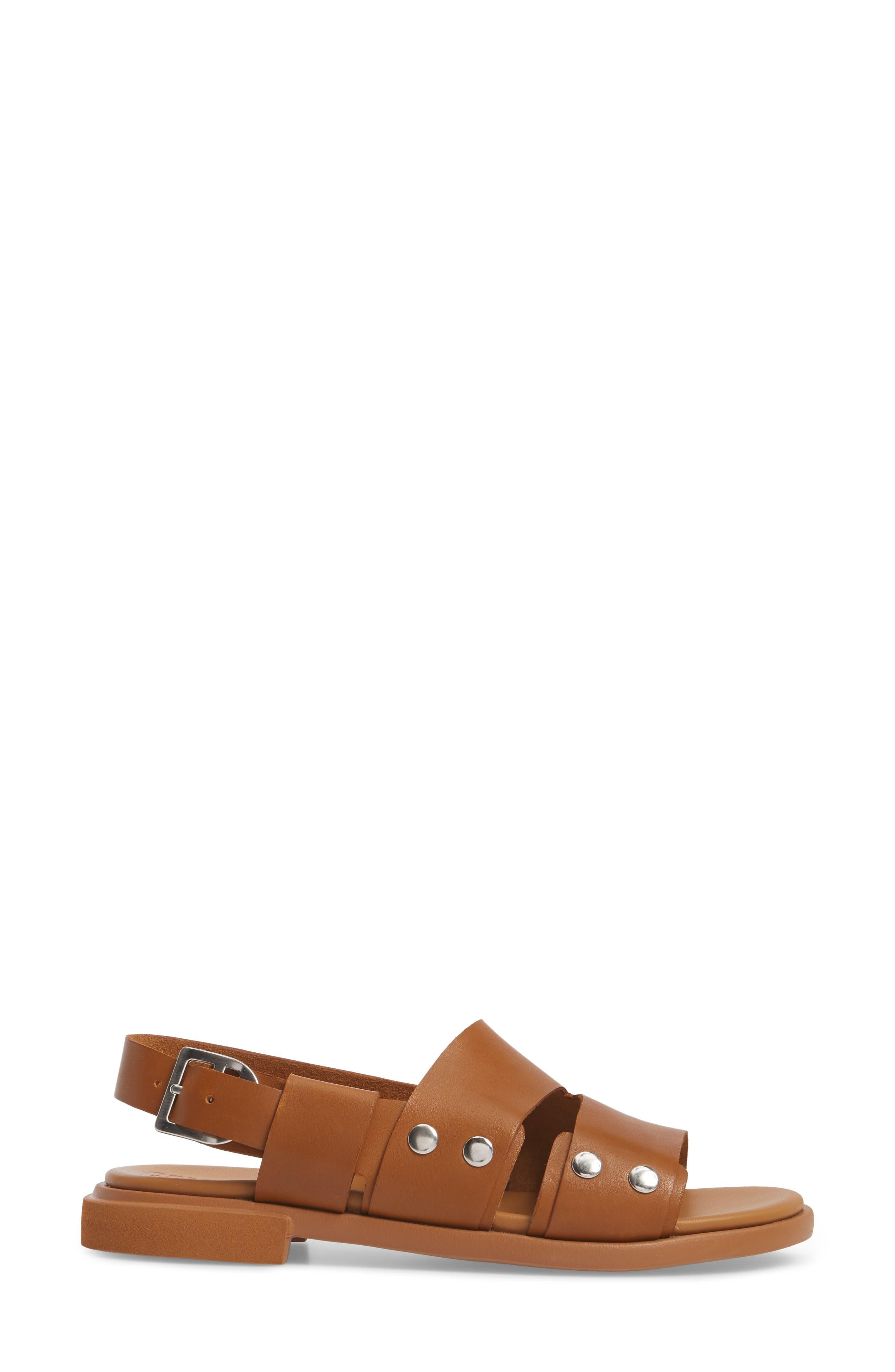 Edy Slingback Sandal,                             Alternate thumbnail 3, color,                             Rust/ Copper Leather