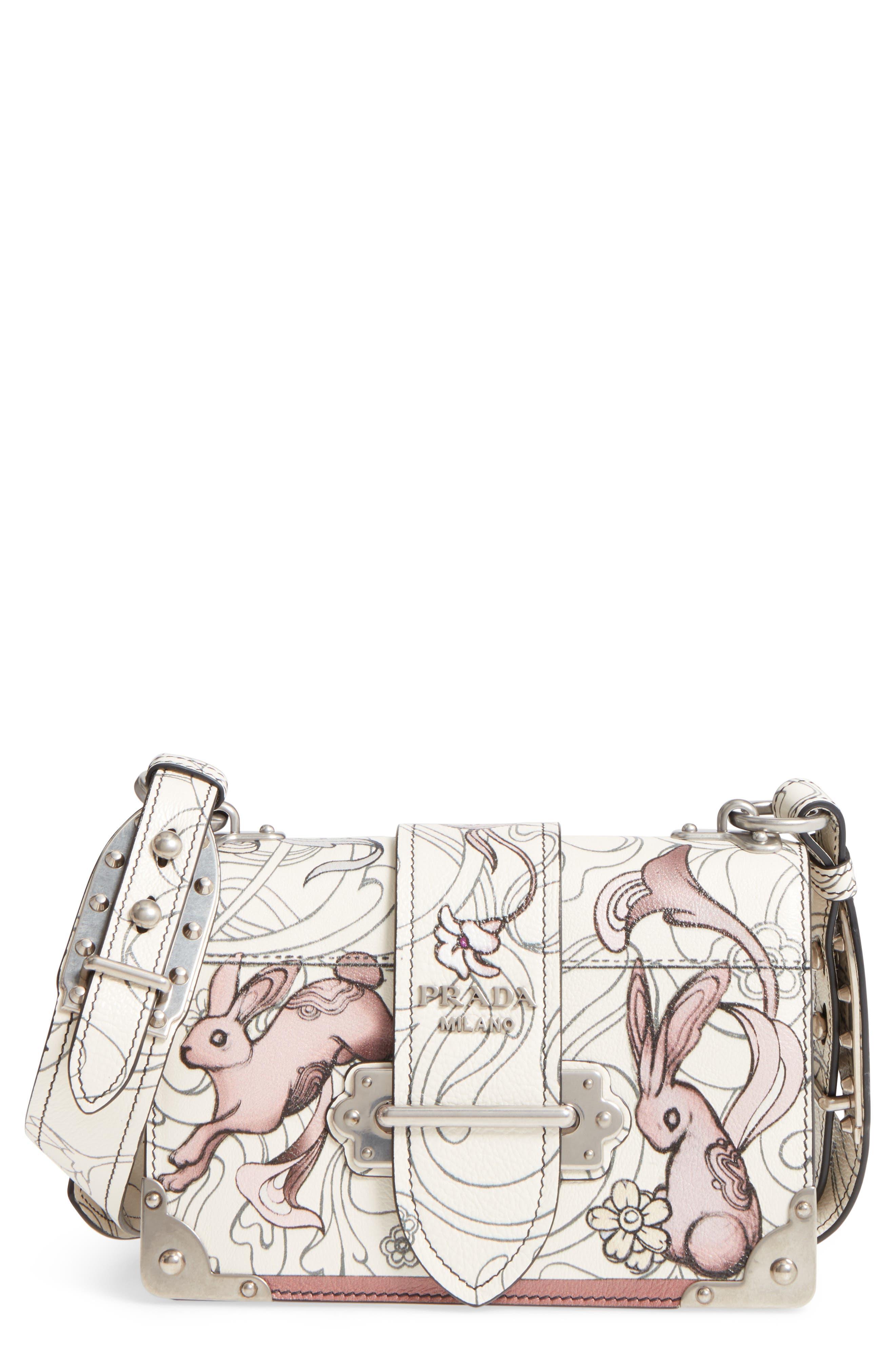 Main Image - Prada Cahier Calfskin Shoulder Bag