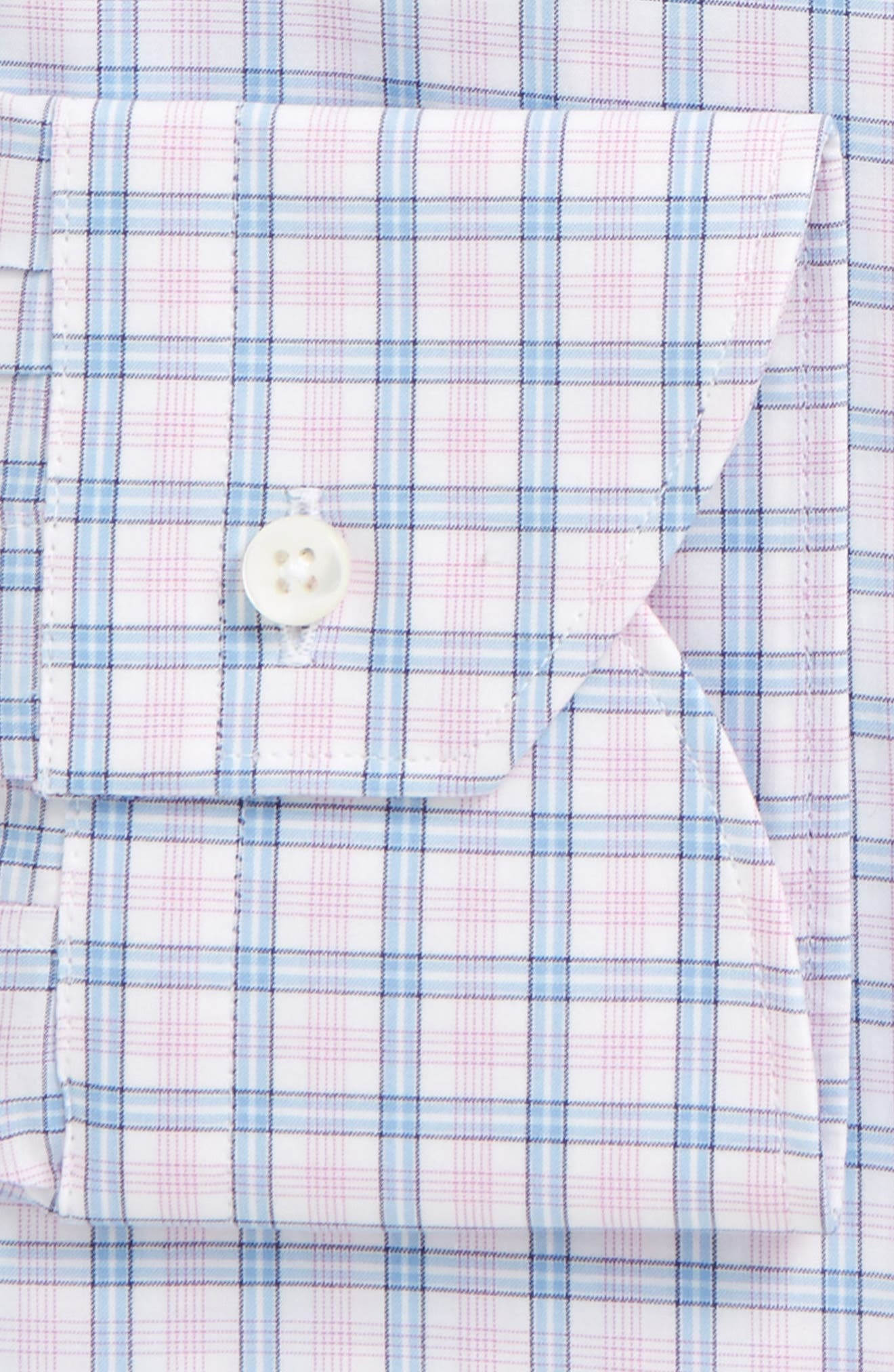 Regular Fit Plaid Dress Shirt,                             Alternate thumbnail 2, color,                             Pink
