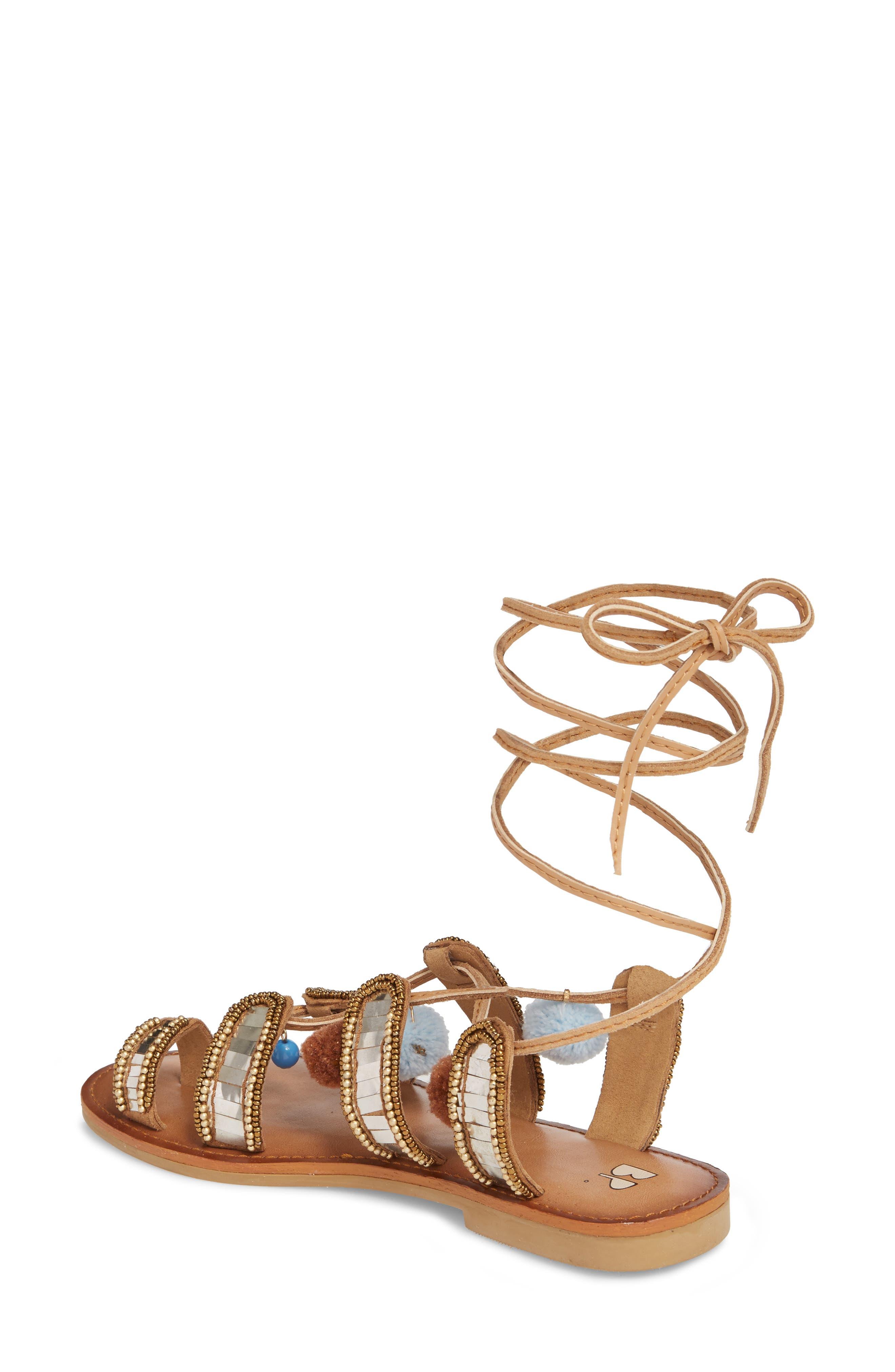 Bassie Ankle Strap Sandal,                             Alternate thumbnail 2, color,                             Brown Multi Faux Suede