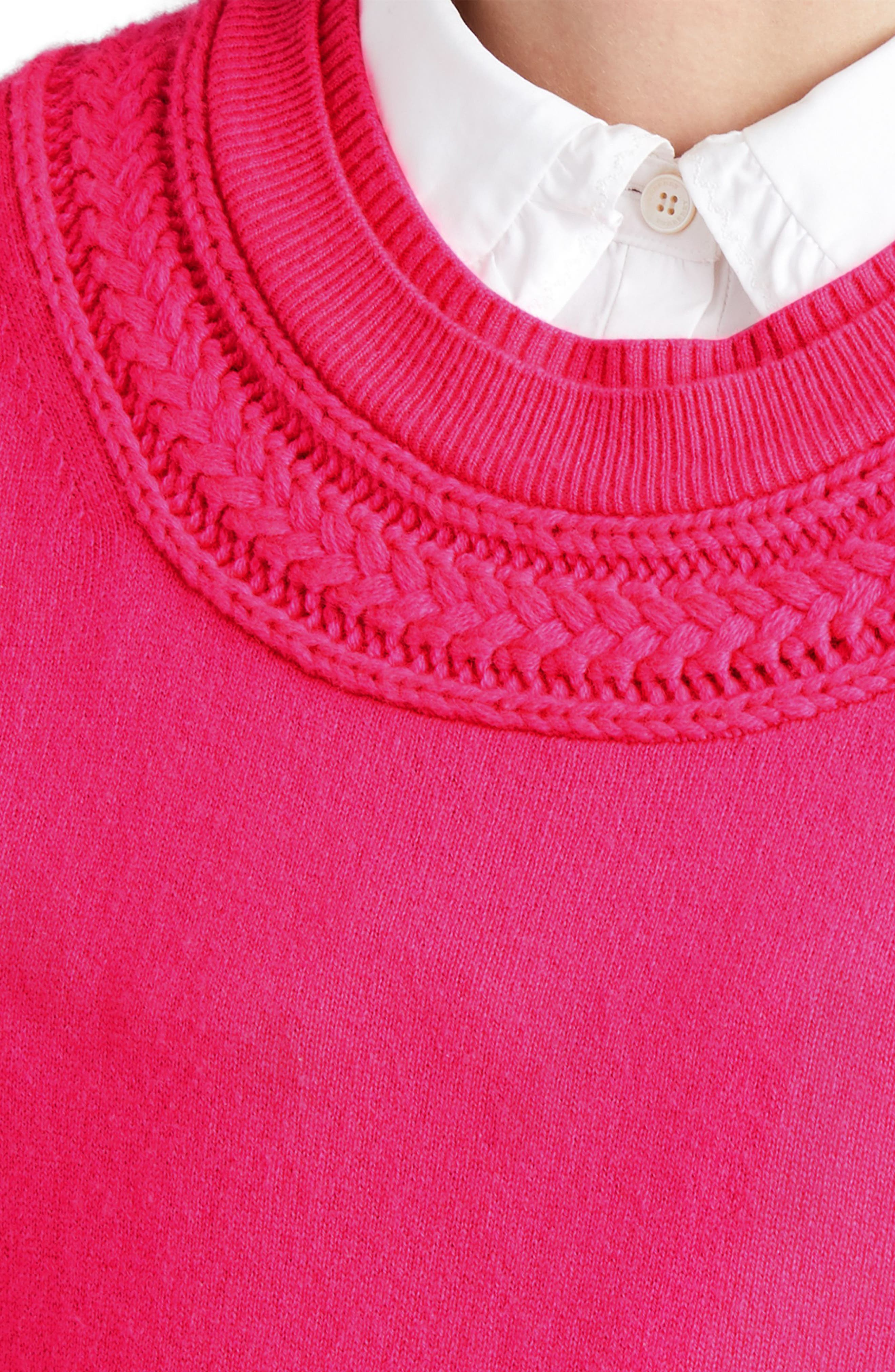 Guadaira Cashmere Sweater,                             Alternate thumbnail 5, color,                             Bright Rose Pink