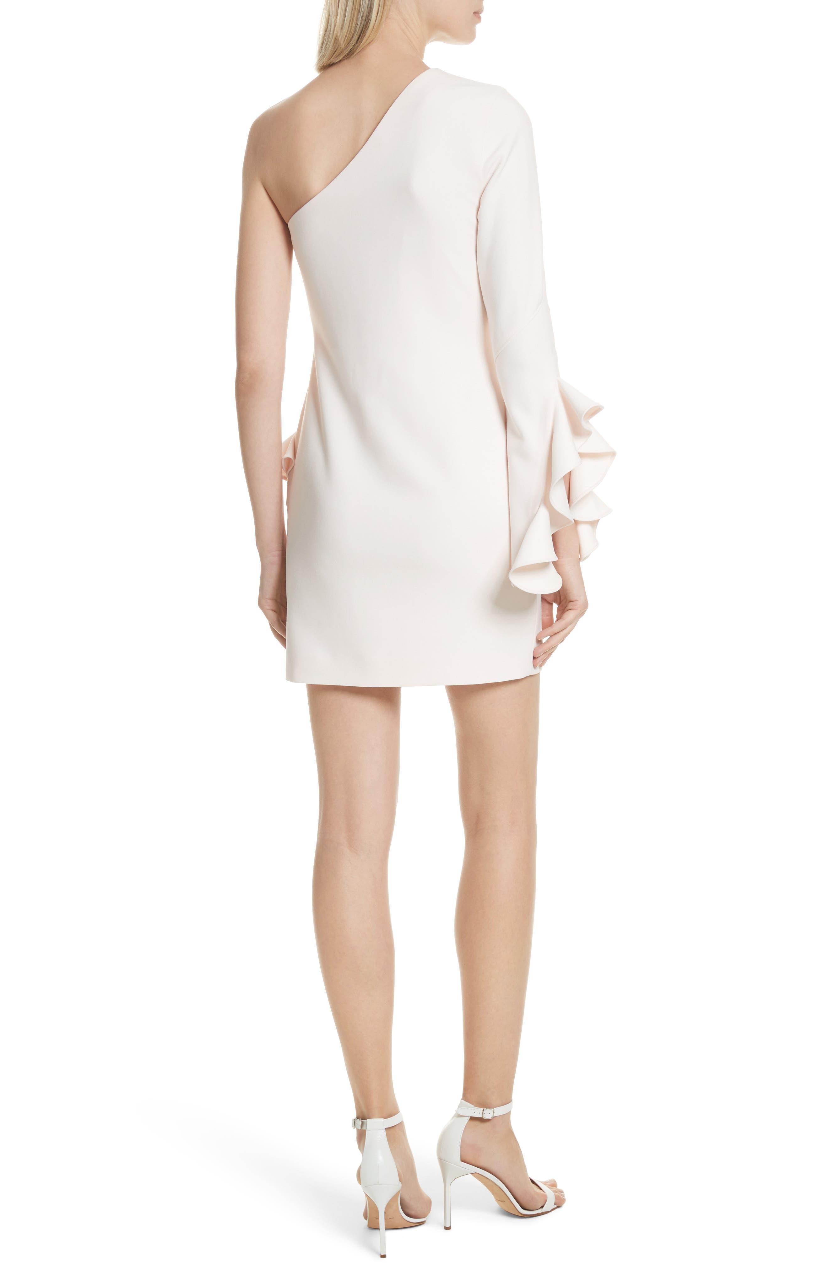 Pia Ruffle Trim One-Shoulder Dress,                             Alternate thumbnail 2, color,                             Pearl Blush