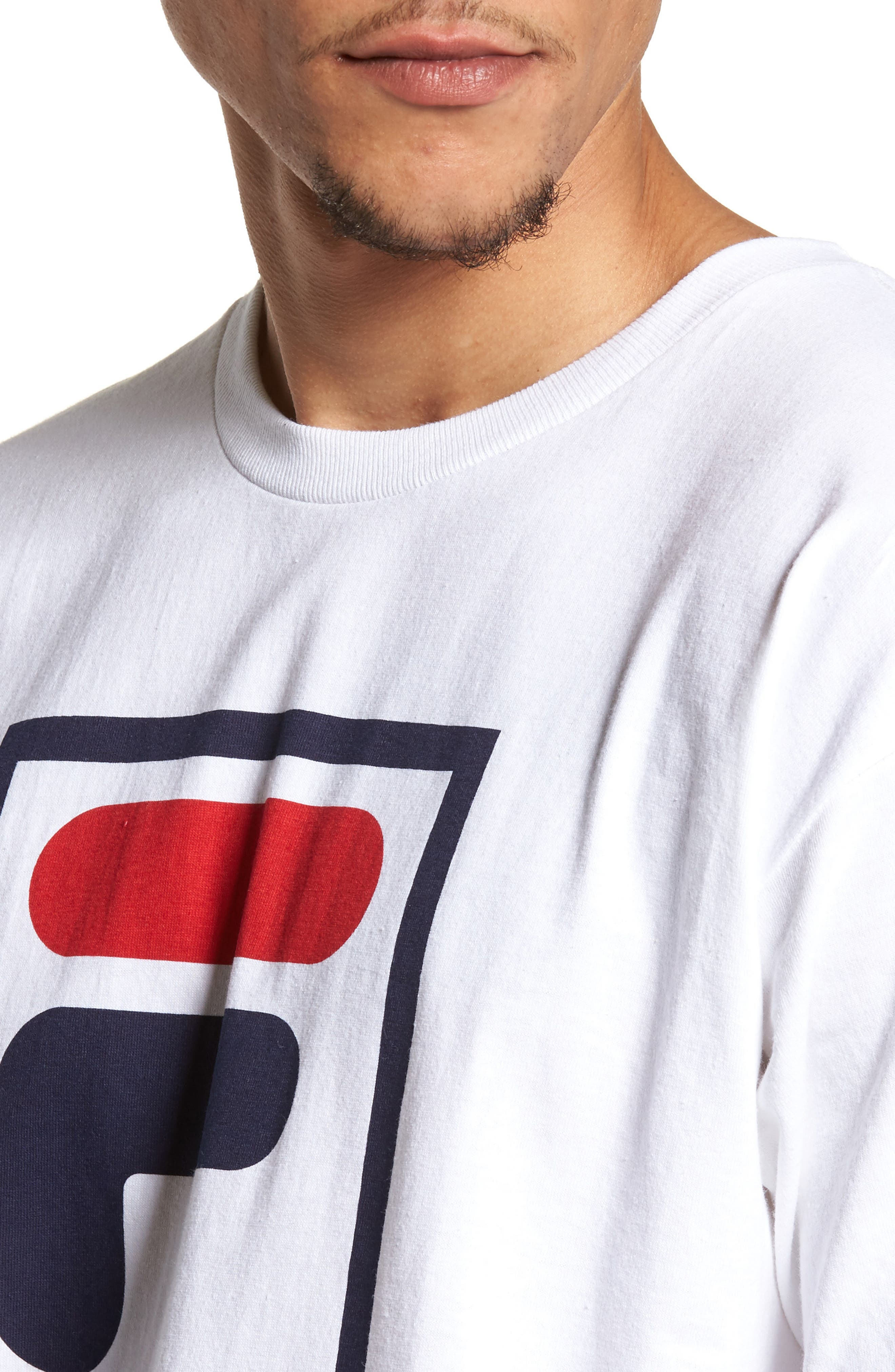Alternate Image 4  - FILA Stacked Logo T-Shirt