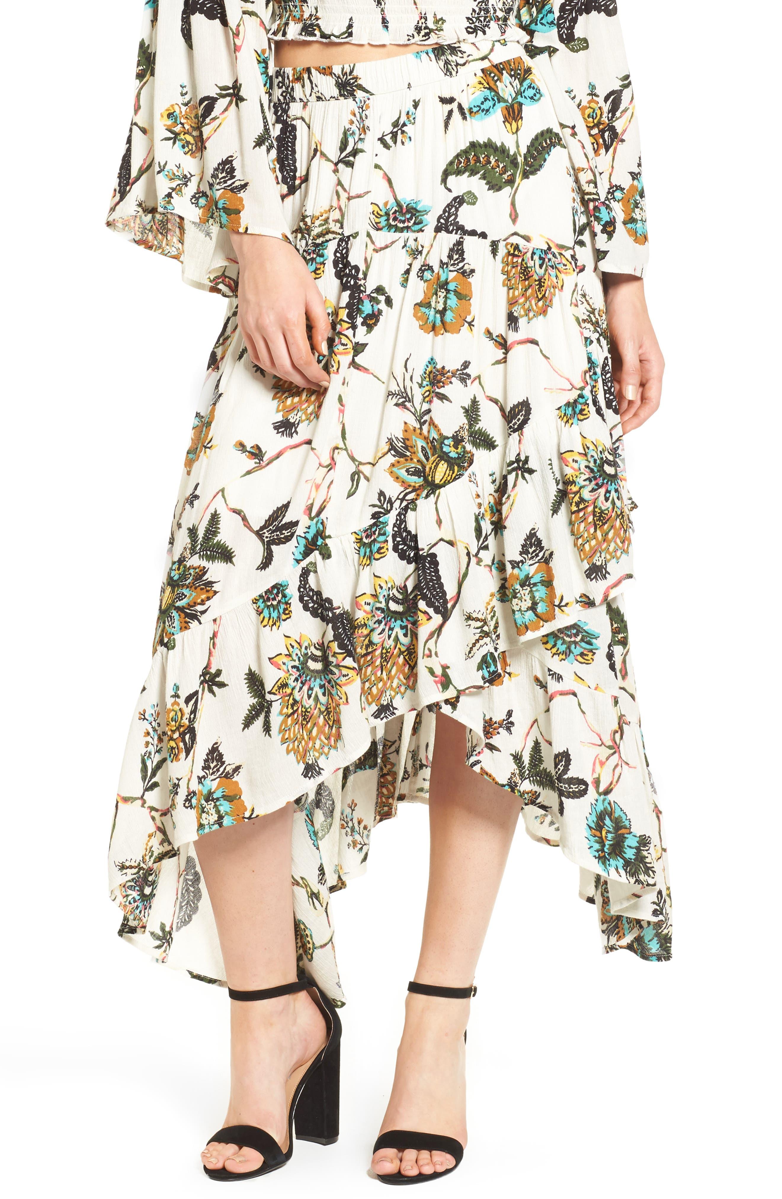 BP. Asymmetrical Ruffle Hem Skirt