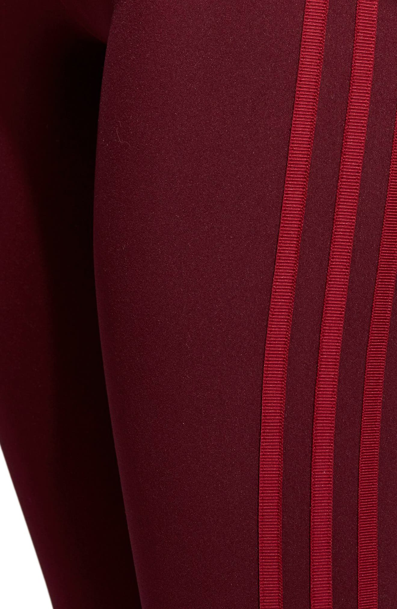 Originals Adibreak Tights,                             Alternate thumbnail 6, color,                             Maroon