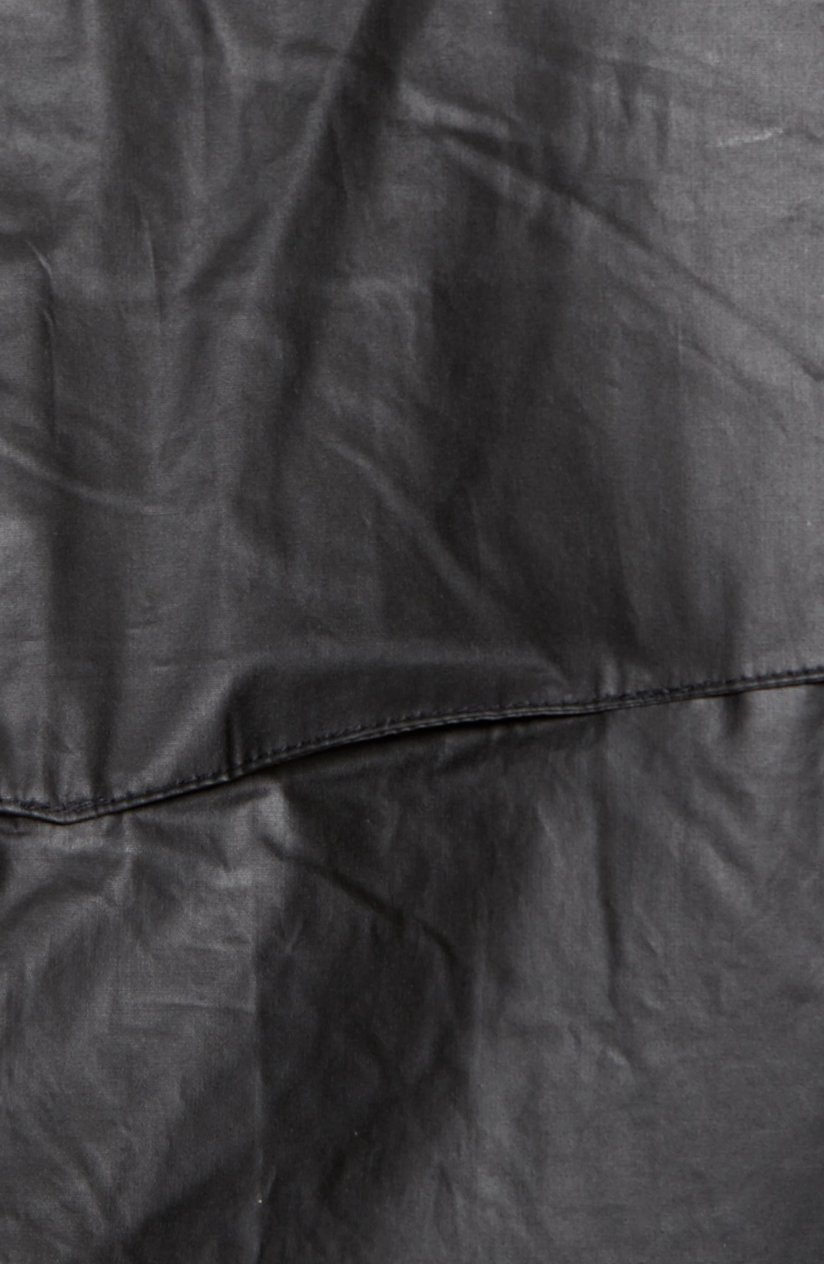 Insulated Harrington Jacket,                             Alternate thumbnail 5, color,                             Black