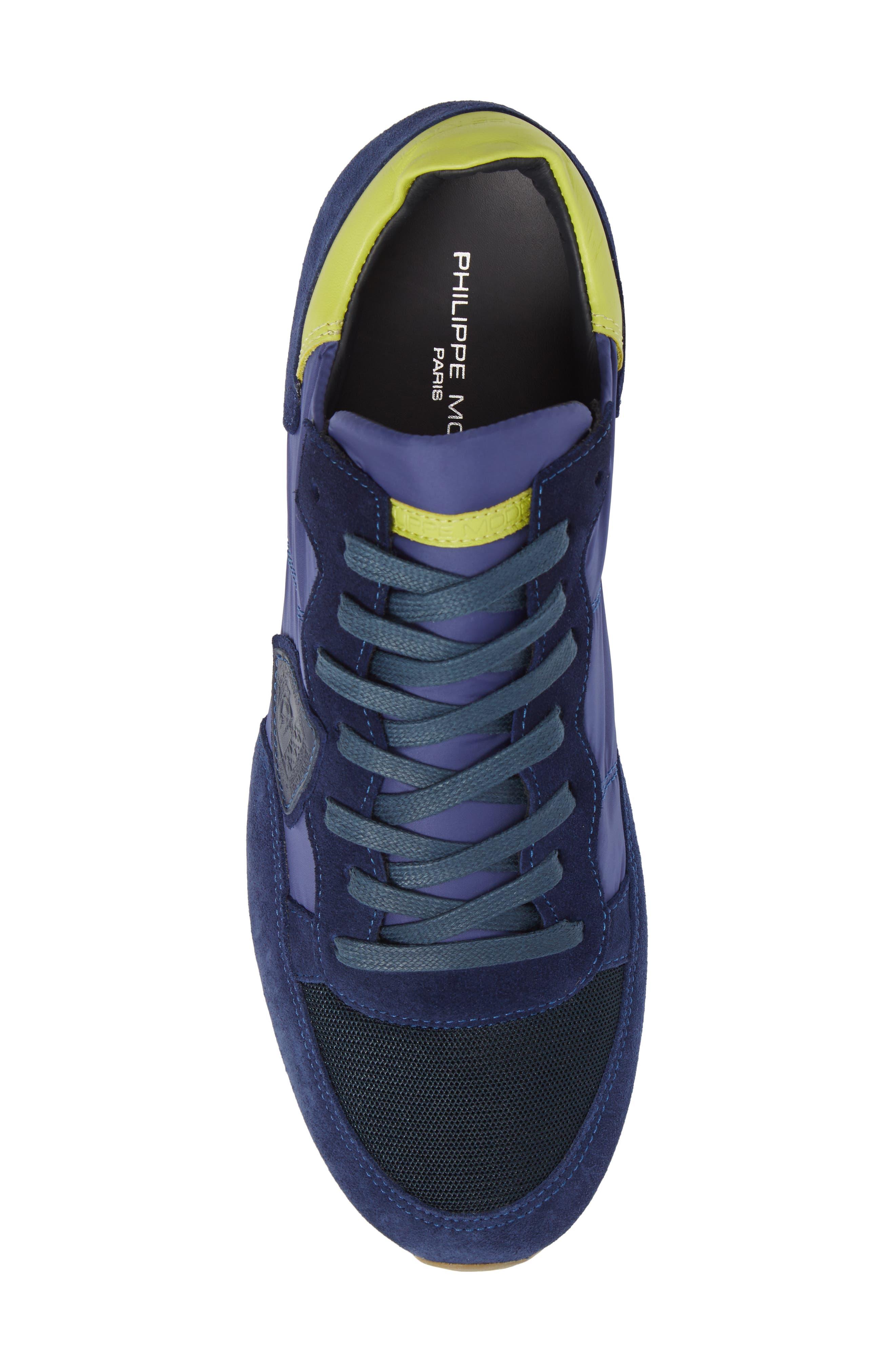 Tropez Low Top Sneaker,                             Alternate thumbnail 5, color,                             Blue/ Citron
