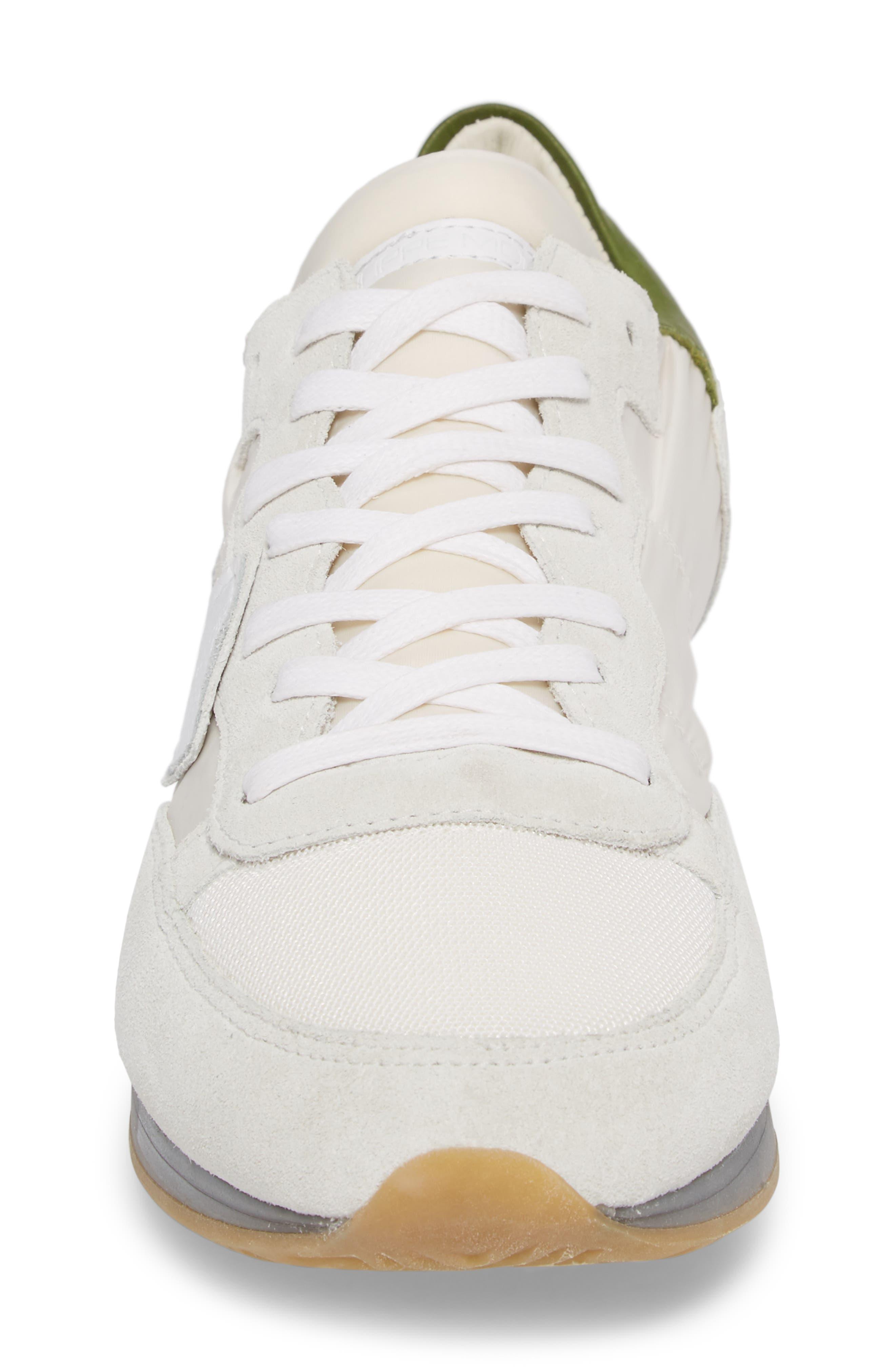 Tropez Sneaker,                             Alternate thumbnail 4, color,                             White/ Green