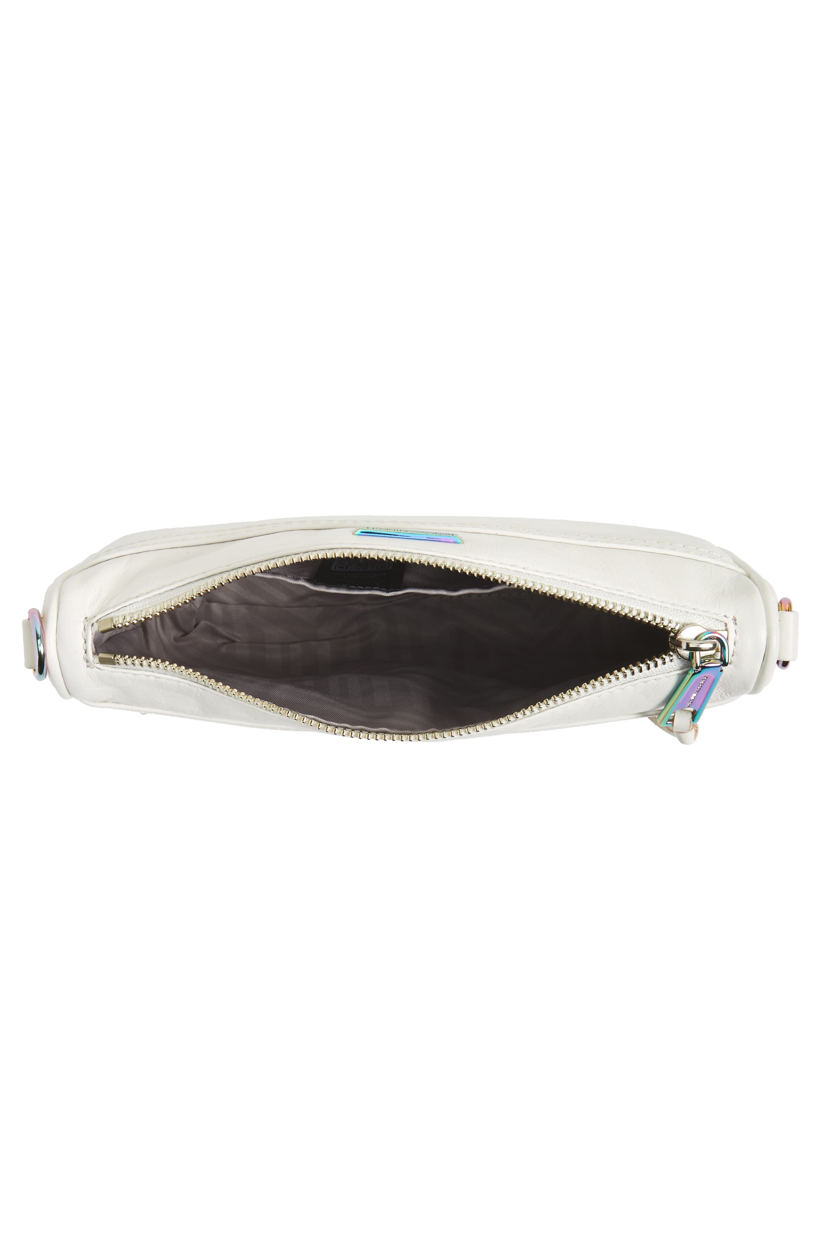 Mini MAC Convertible Crossbody Bag,                             Alternate thumbnail 5, color,                             Bianco