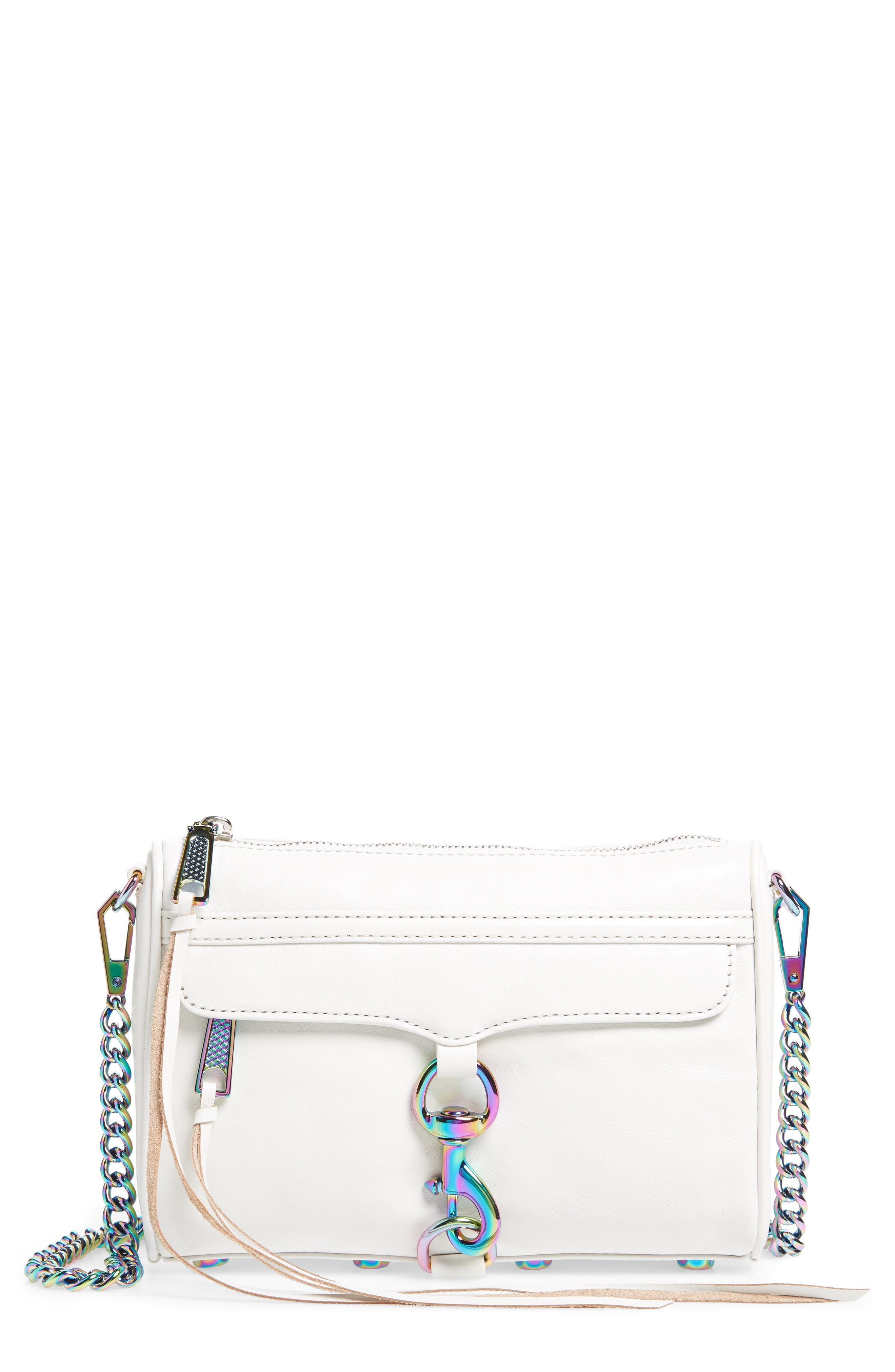 Mini MAC Convertible Crossbody Bag,                             Main thumbnail 1, color,                             Bianco