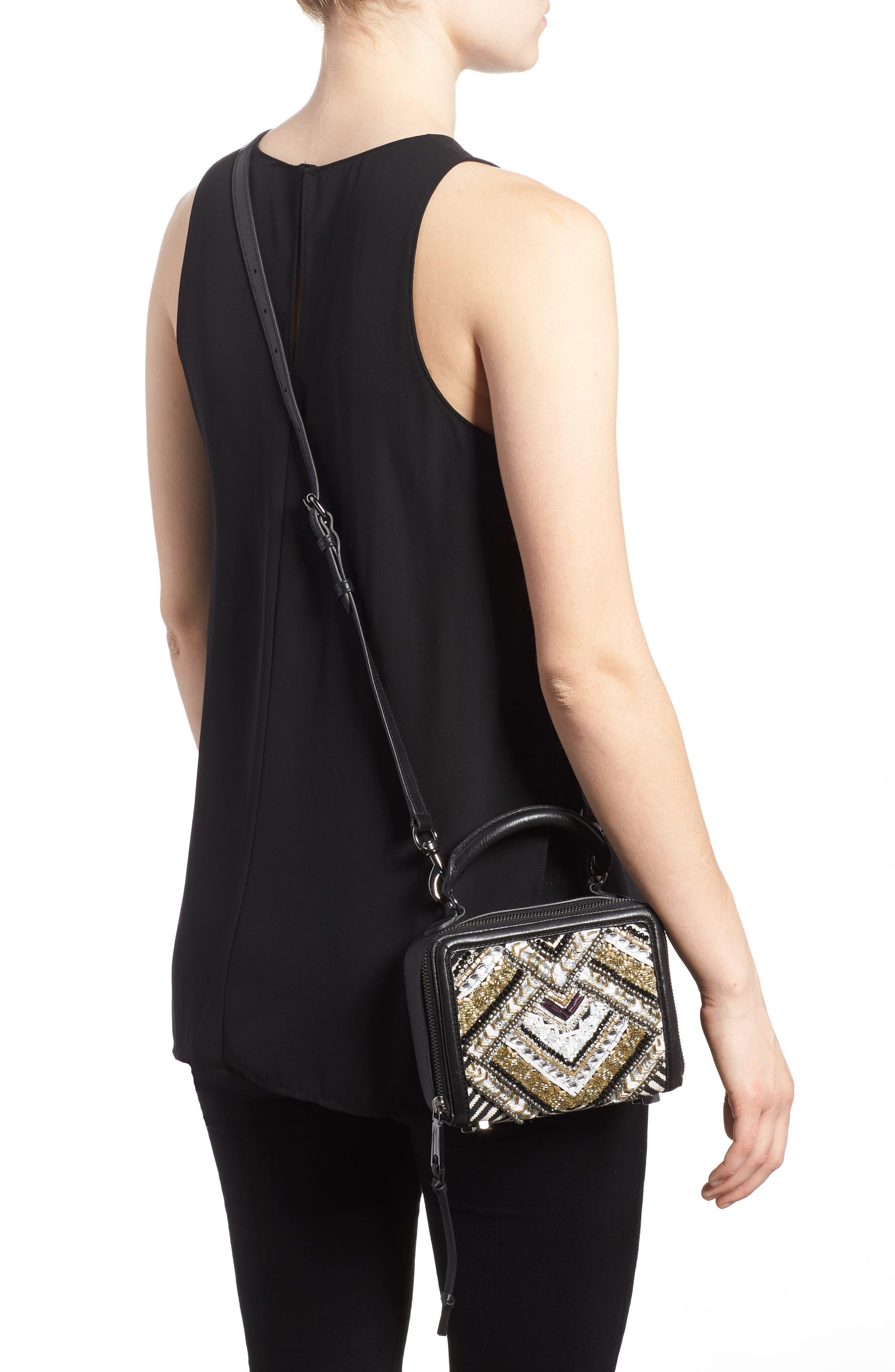 Wonder Box Embellished Crossbody Bag,                             Alternate thumbnail 2, color,                             Black Metallic Multi