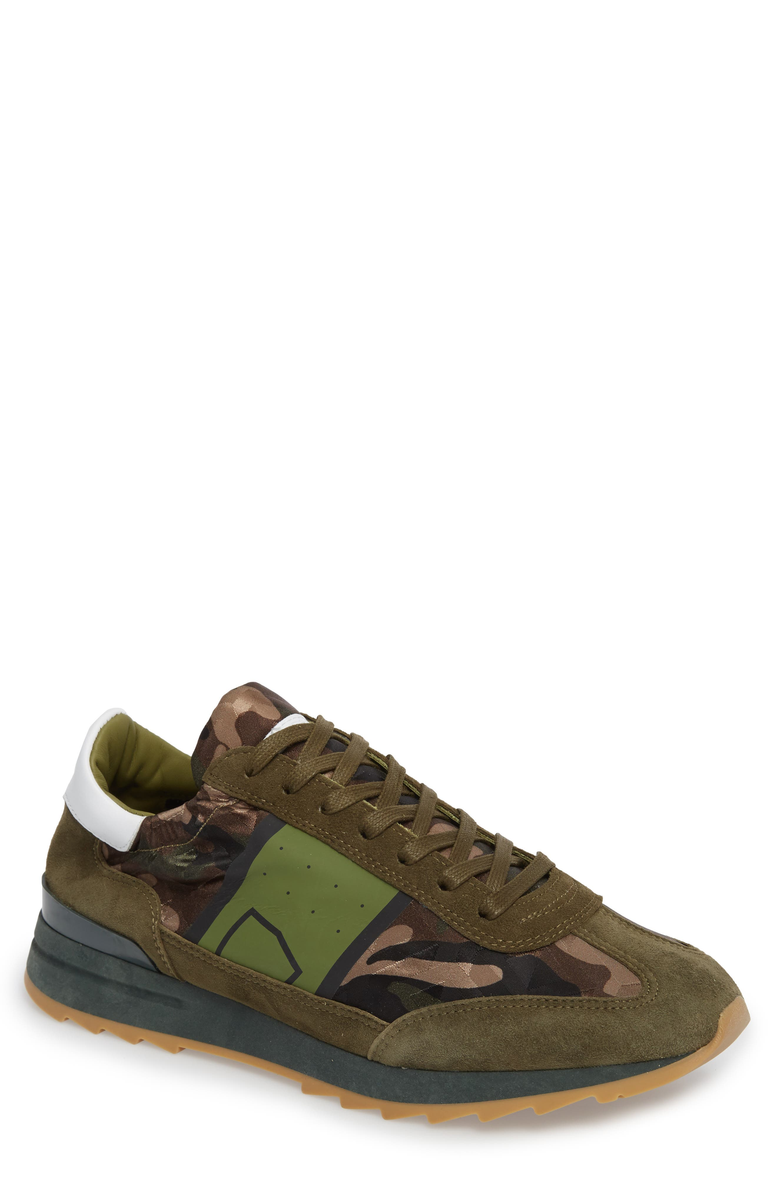 Toujours Sneaker,                         Main,                         color, Green/ Green