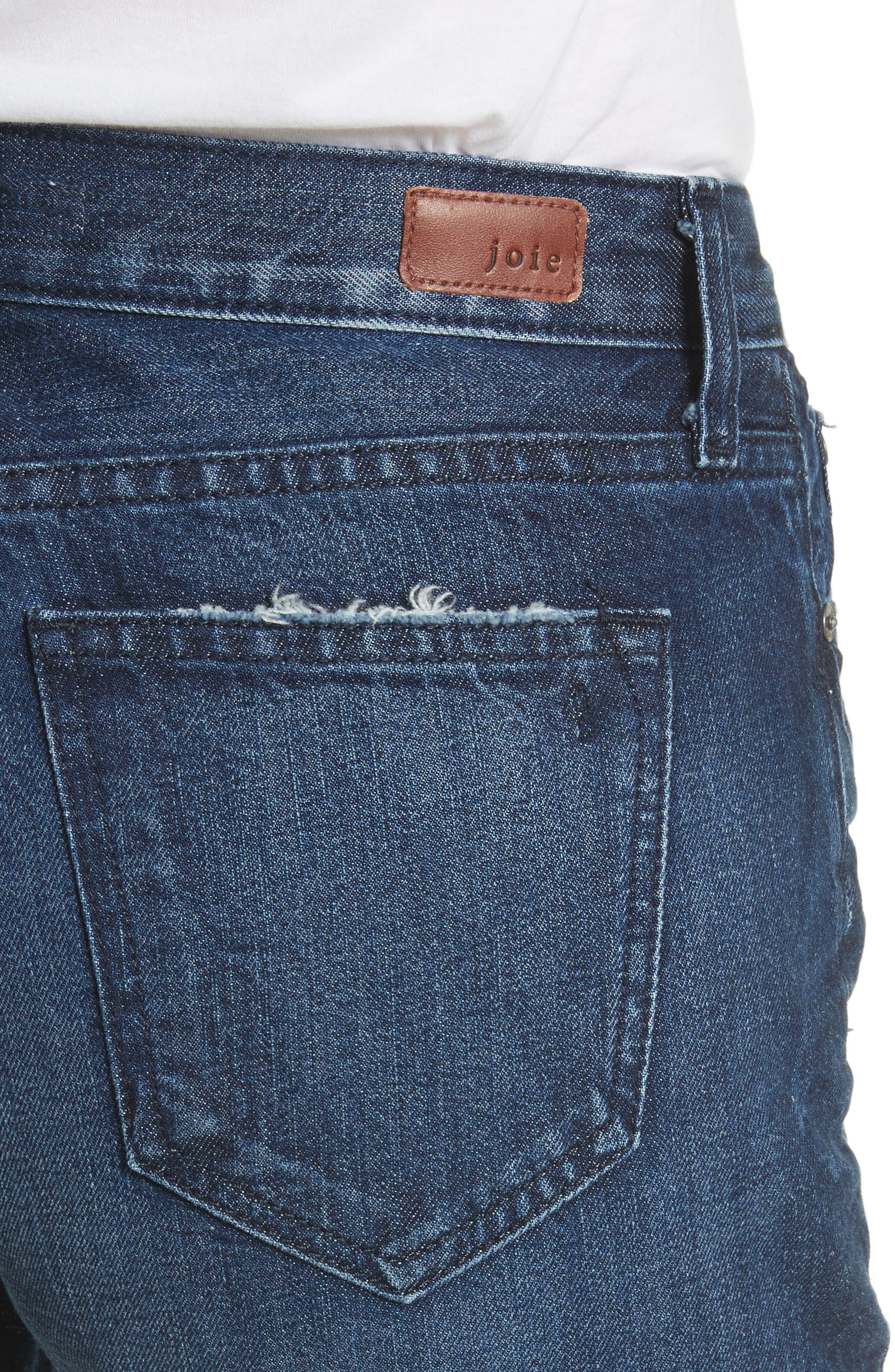 Josie Straight Leg Crop Cuff Jeans,                             Alternate thumbnail 4, color,                             Danseur