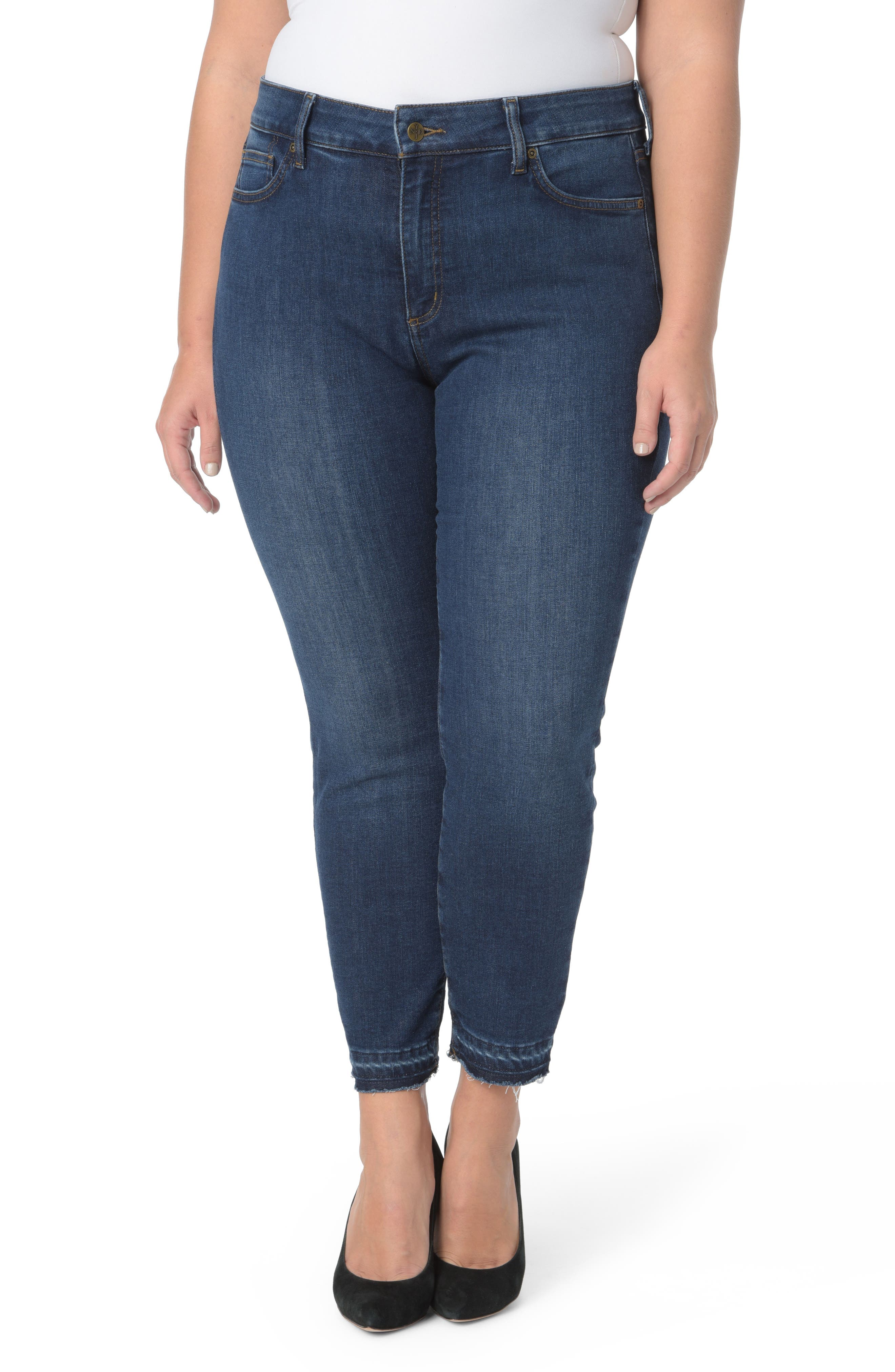Alternate Image 1 Selected - NYDJ Alina Release Hem Ankle Jeans (Cooper) (Plus Size)