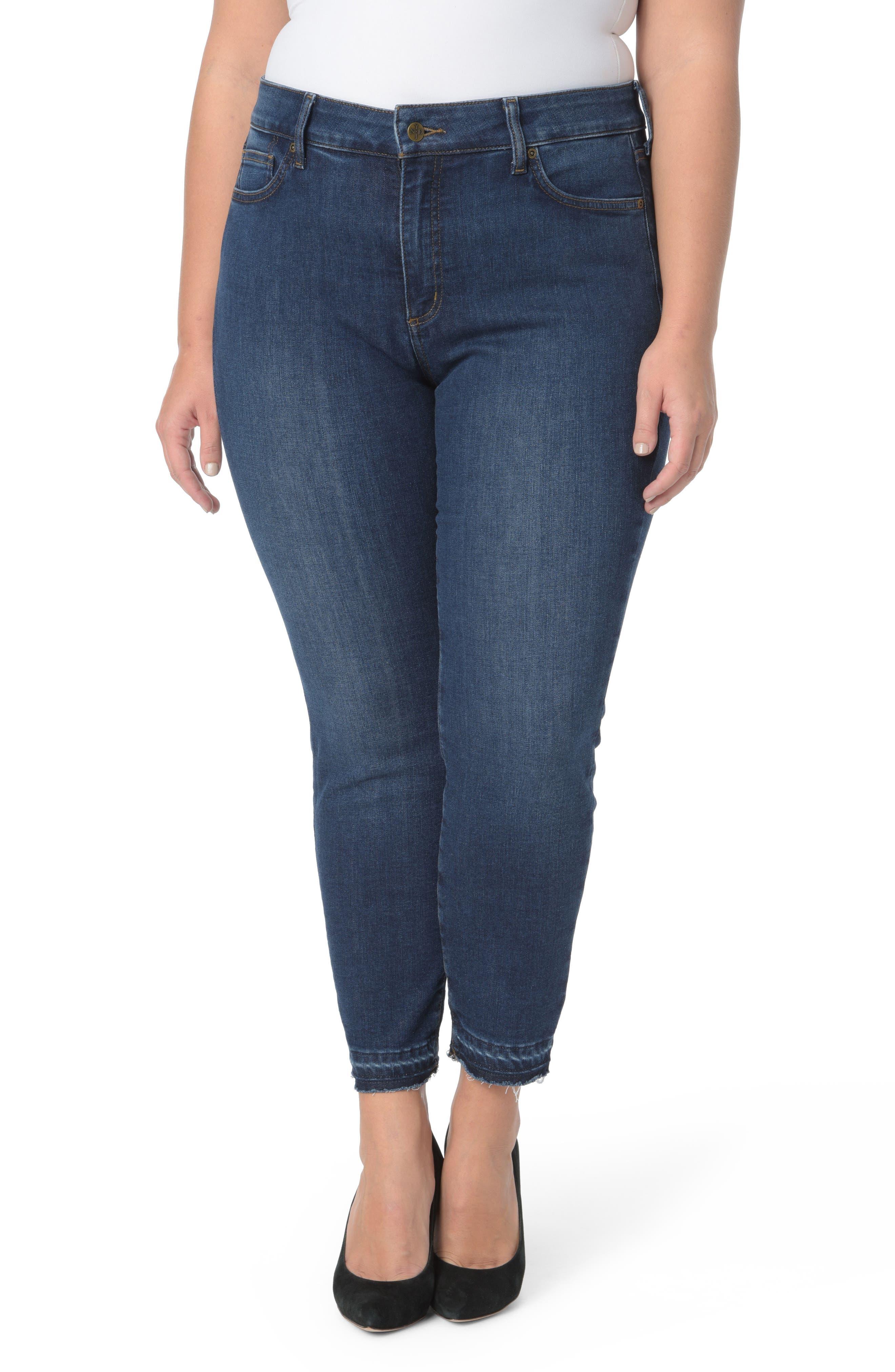 NYDJ Alina Release Hem Ankle Jeans (Cooper) (Plus Size)