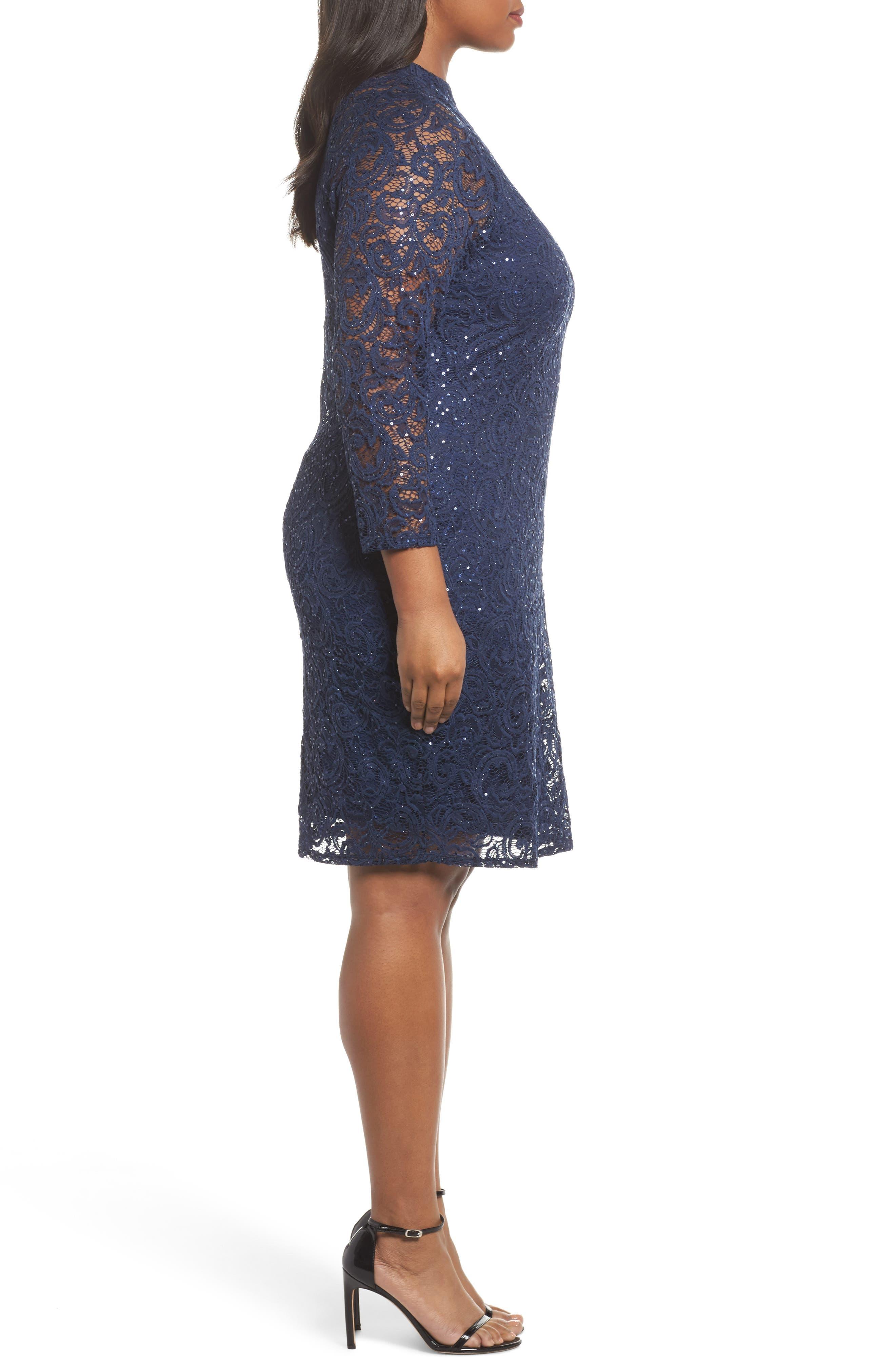 Alternate Image 3  - Marina Sequin Keyhole Sheath Dress (Plus Size)