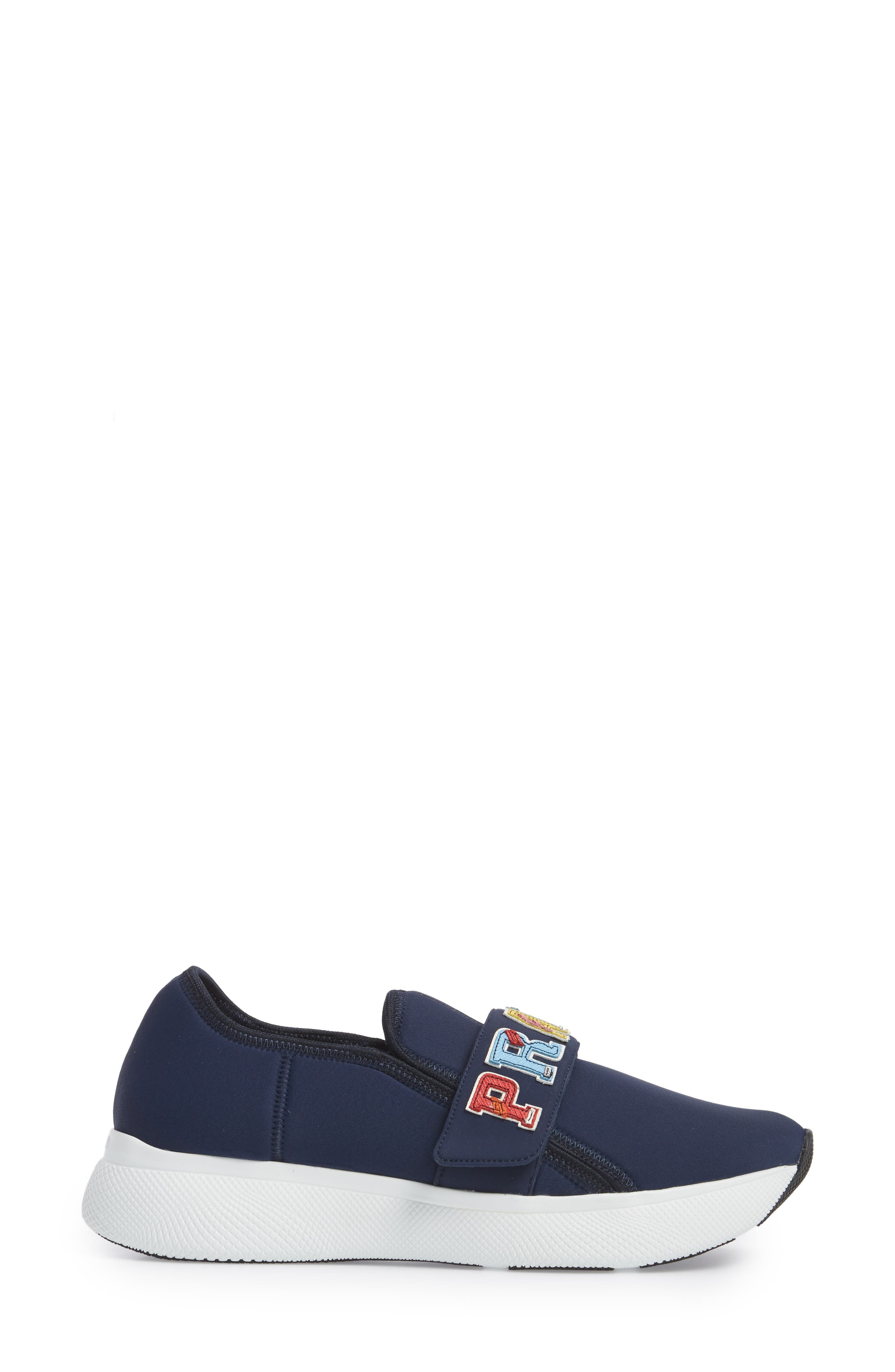 Alternate Image 3  - Prada Logo Strap Low Top Sneaker (Women)