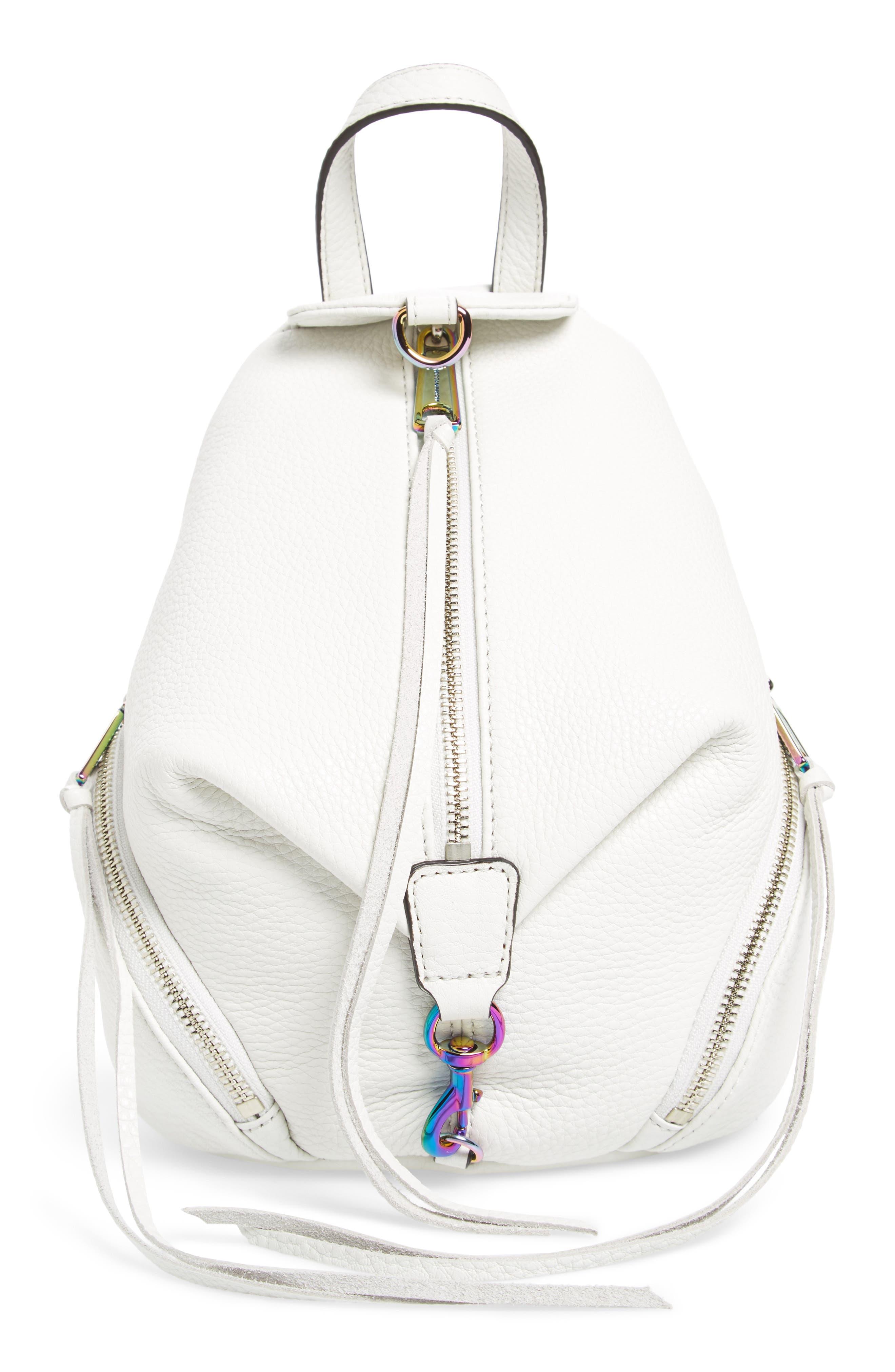 Alternate Image 1 Selected - Rebecca Minkoff Mini Julian Nubuck Leather Convertible Backpack