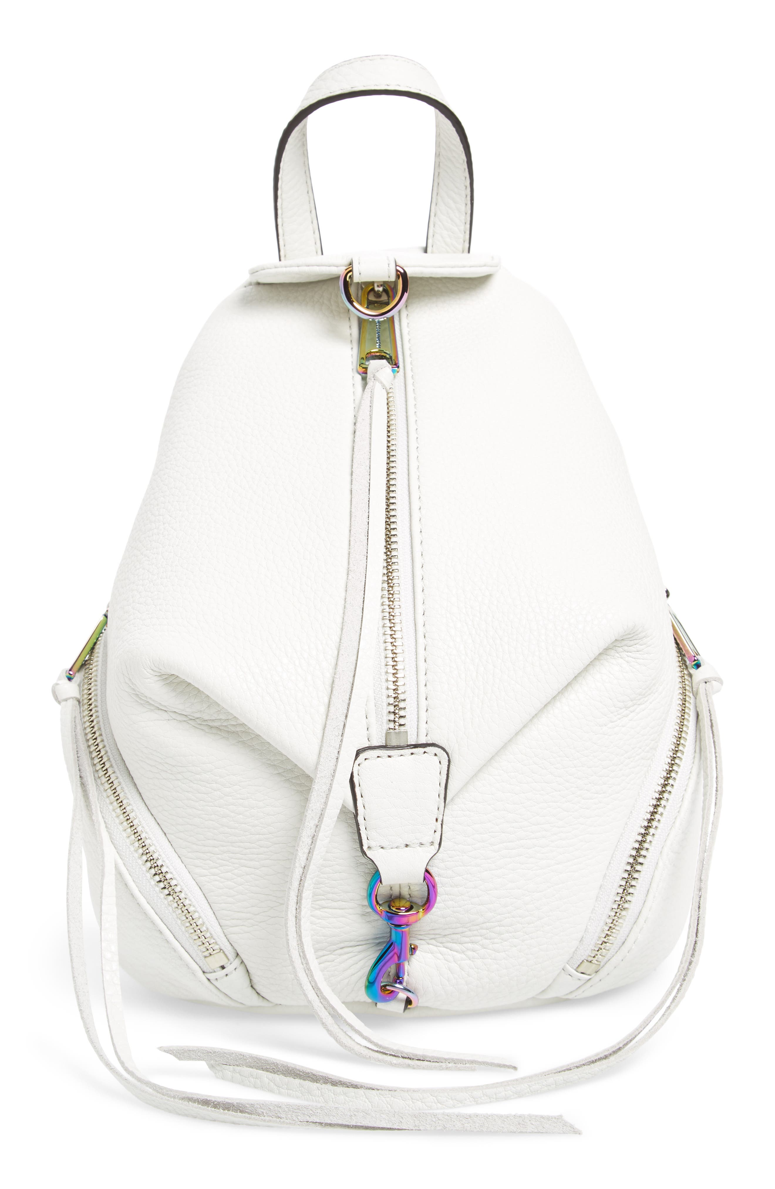 Main Image - Rebecca Minkoff Mini Julian Nubuck Leather Convertible Backpack