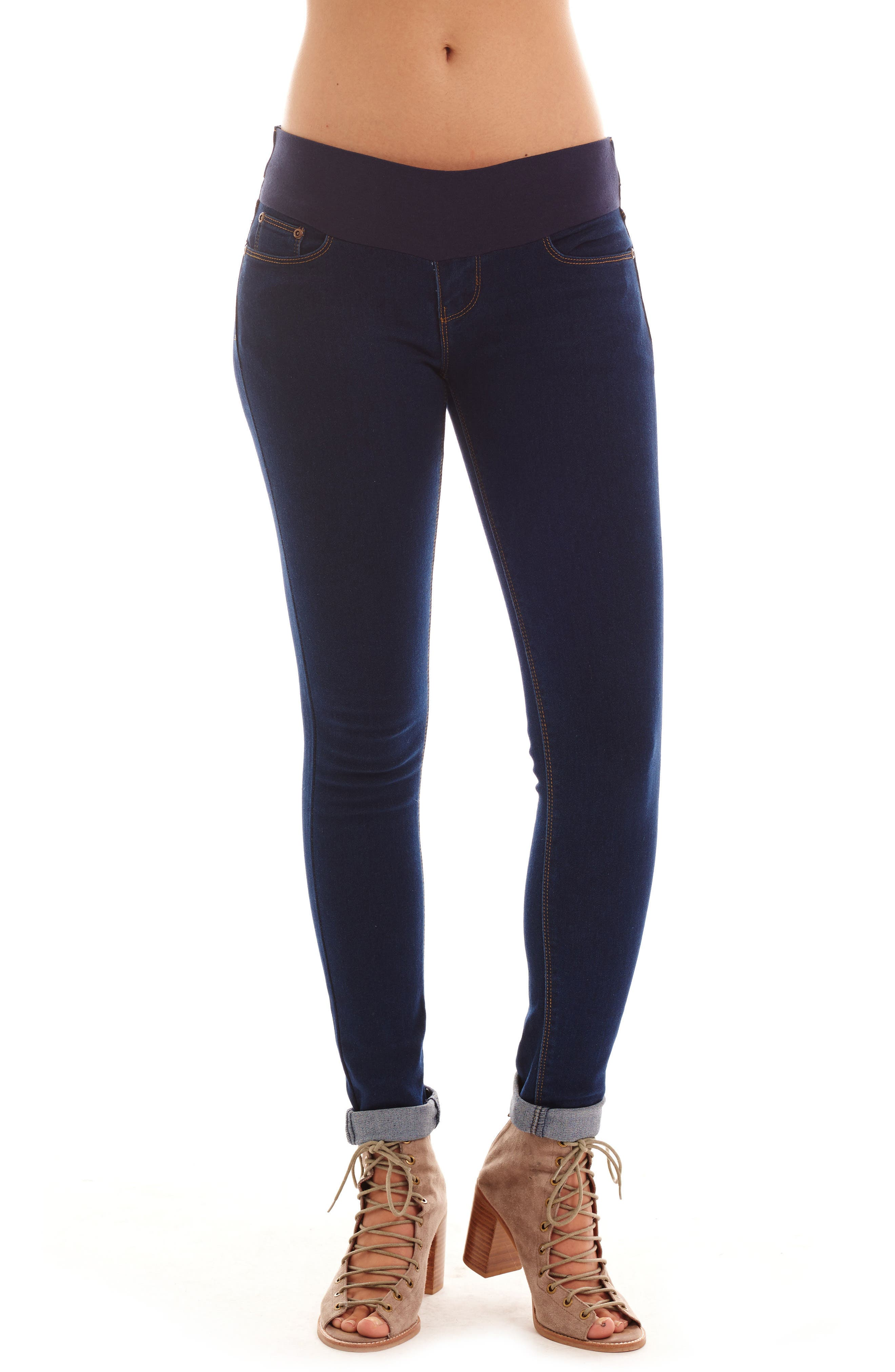 Alternate Image 1 Selected - Everly Grey Aria Maternity Skinny Jeans